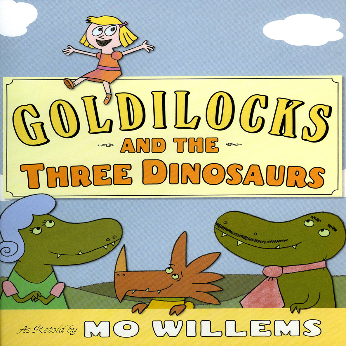Printable Goldilocks and the Three Dinosaurs Audiobook Cover Art