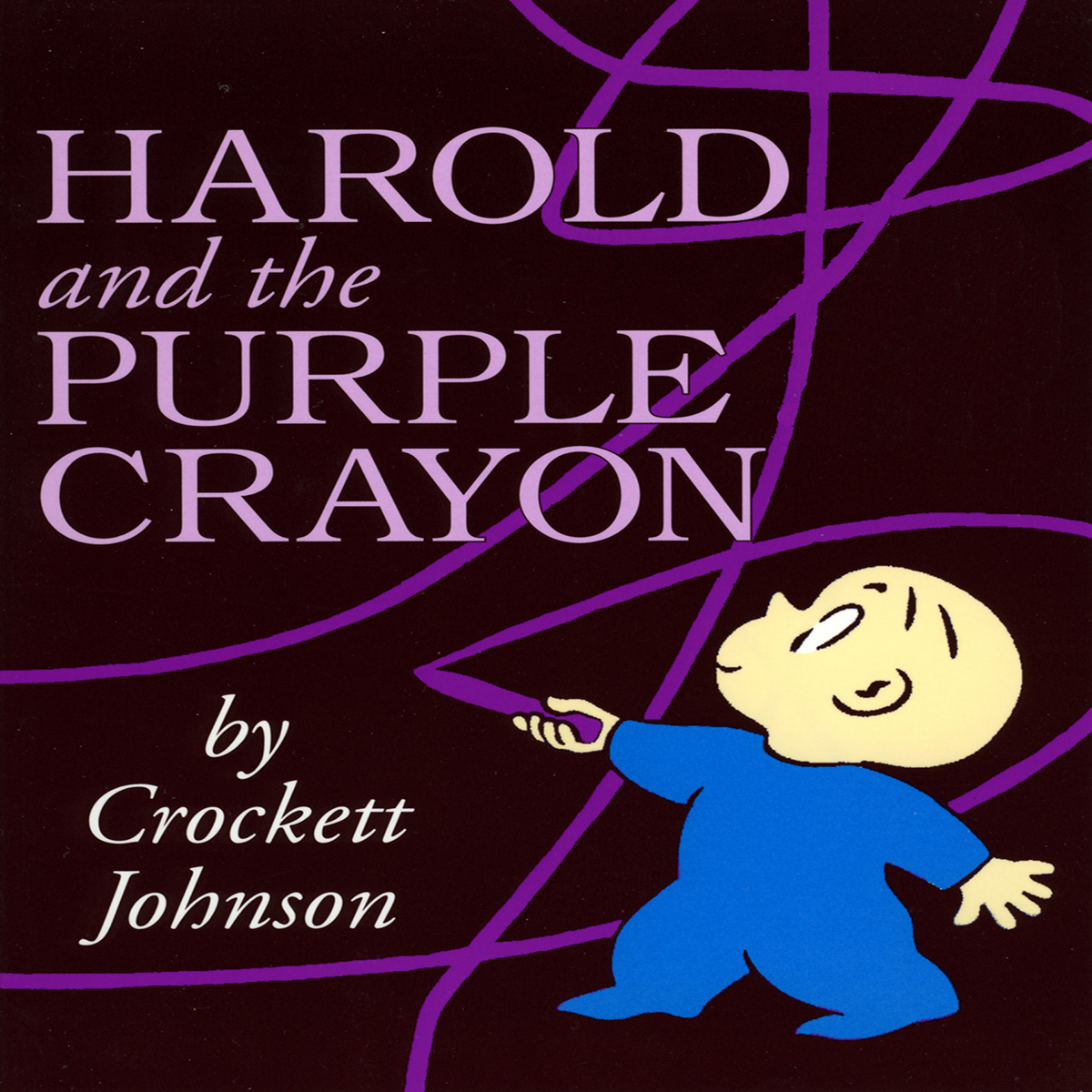 Printable Harold and the Purple Crayon Audiobook Cover Art