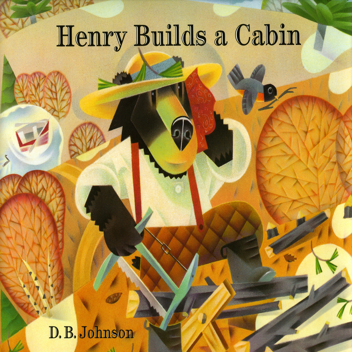 Printable Henry Builds a Cabin Audiobook Cover Art