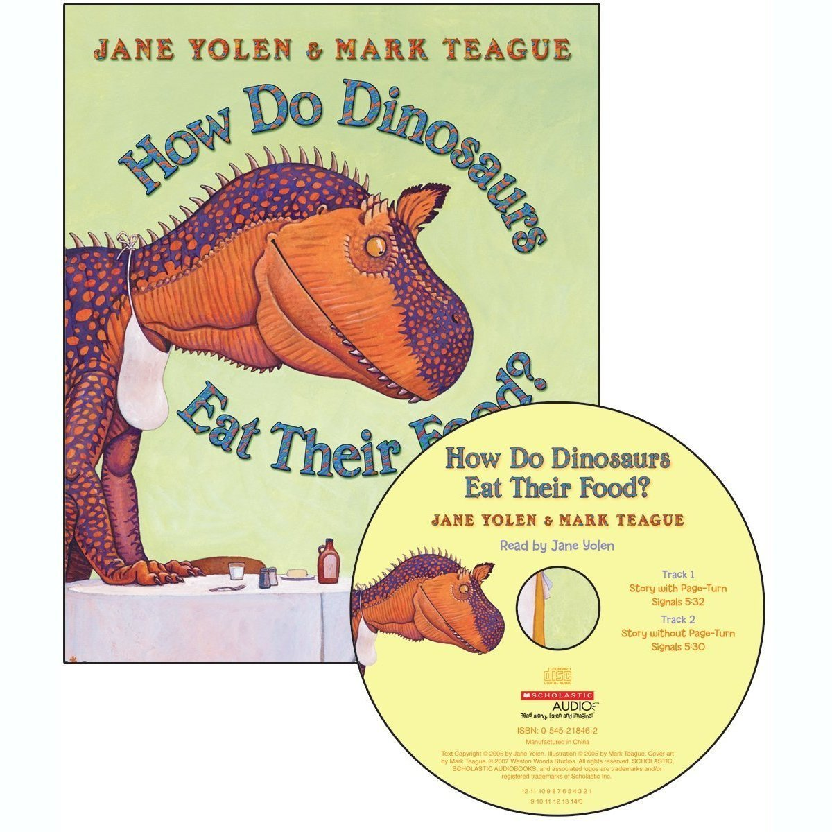 Printable How Do Dinosaurs Eat Their Food? Audiobook Cover Art