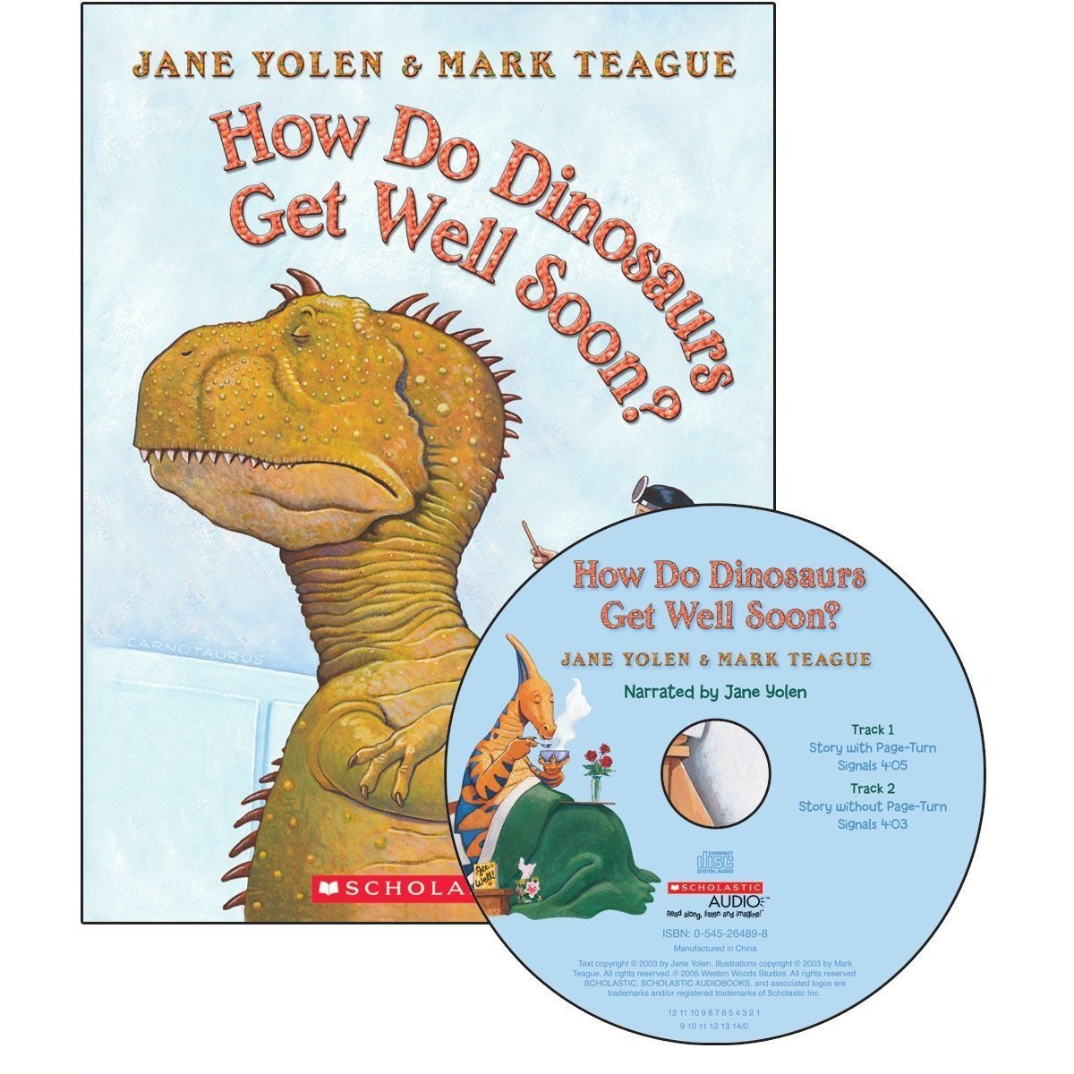 Printable How Do Dinosaurs Get Well Soon? Audiobook Cover Art