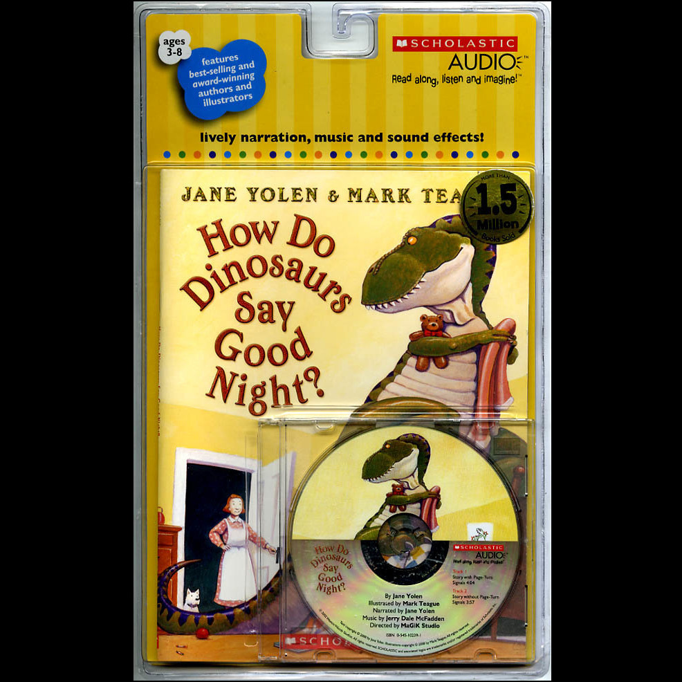 Printable How Do Dinosaurs Say Good Night? Audiobook Cover Art