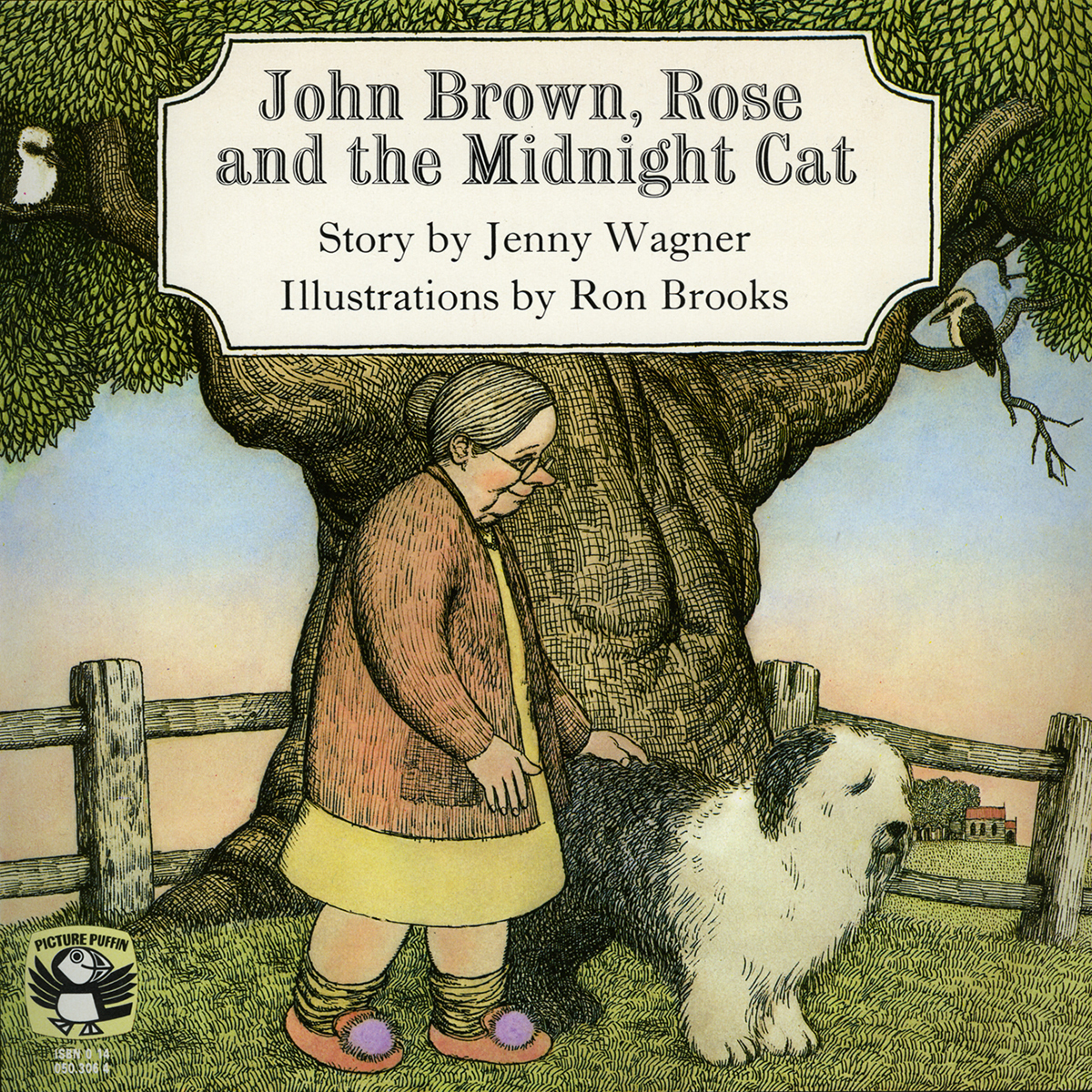 Printable John Brown, Rose, and the Midnight Cat Audiobook Cover Art