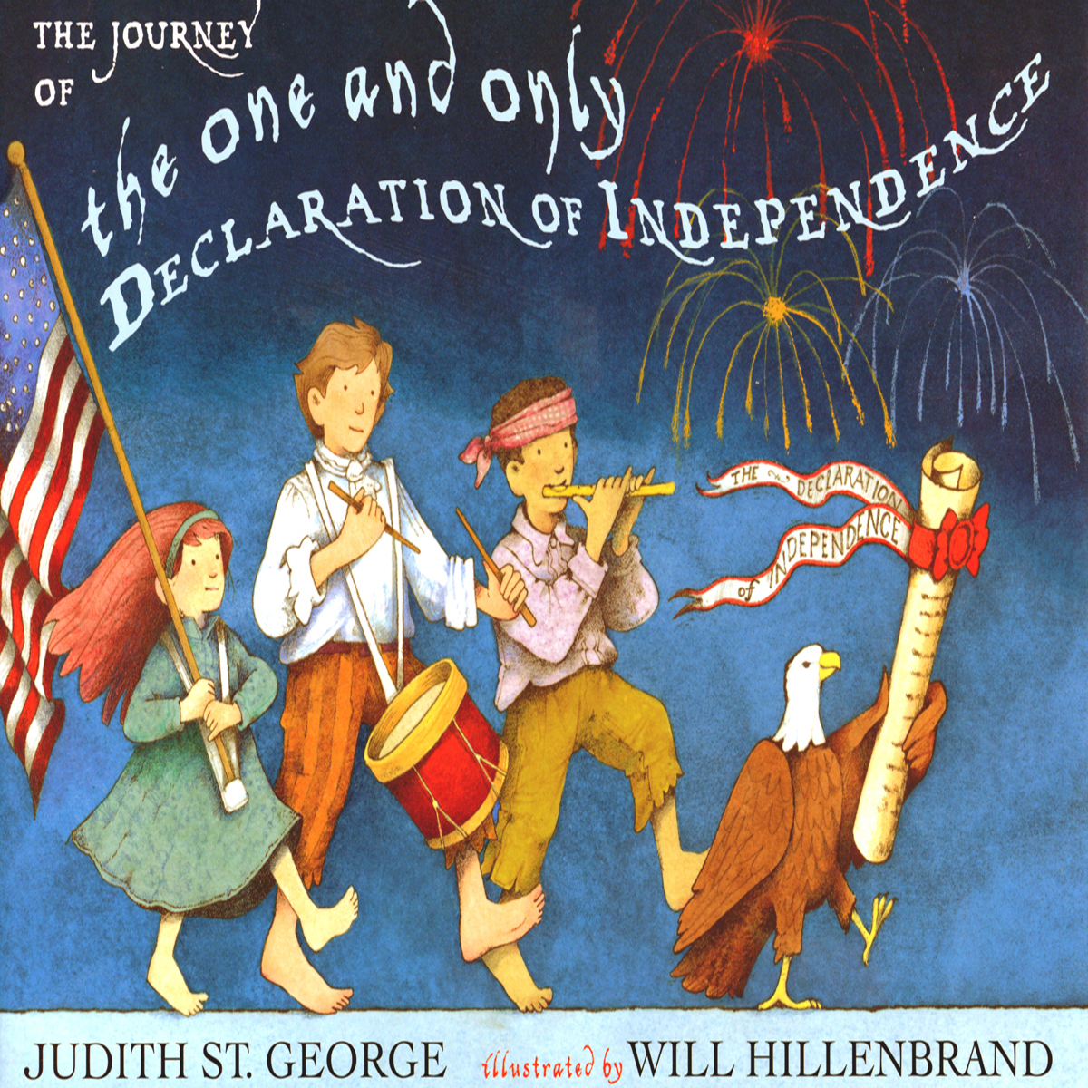 Printable The Journey of the One and Only Declaration of Independence  Audiobook Cover Art