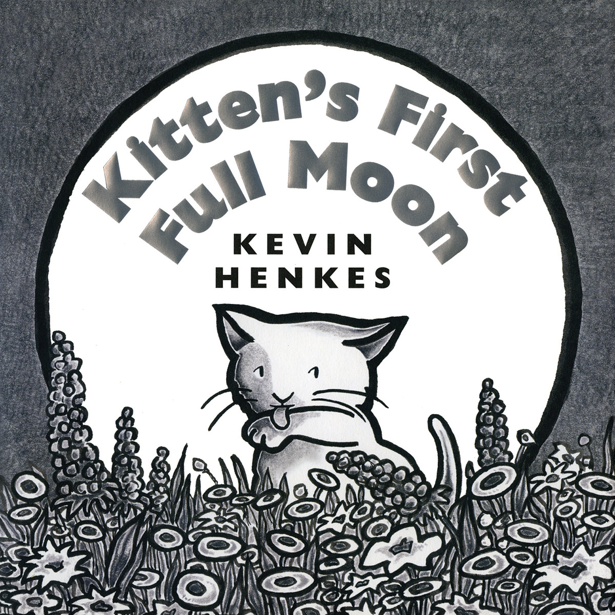 Printable Kitten's First Full Moon Audiobook Cover Art