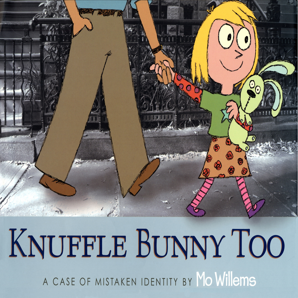 Printable Knuffle Bunny Too:  A Case of Mistaken Identity Audiobook Cover Art