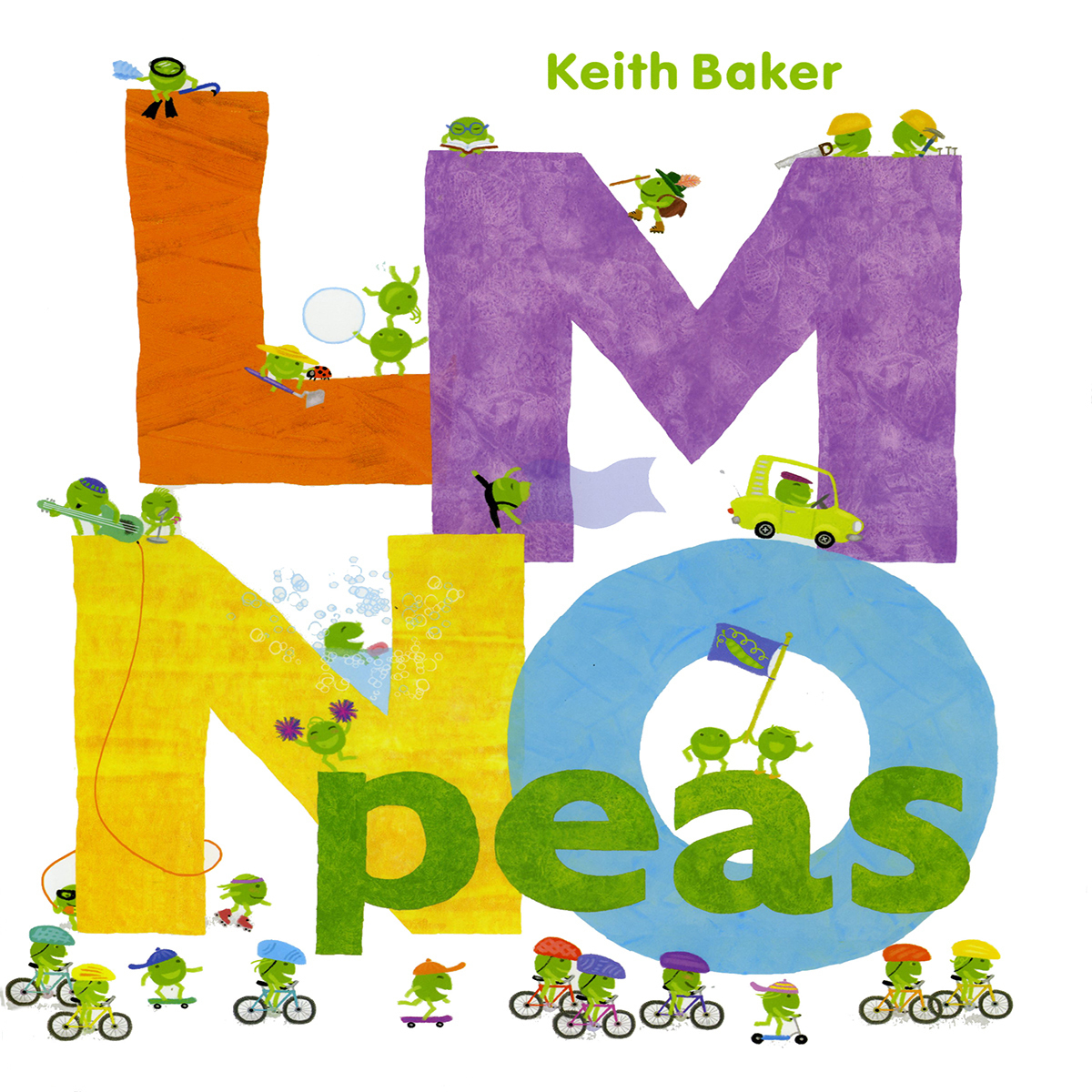 Printable LMNO Peas Audiobook Cover Art