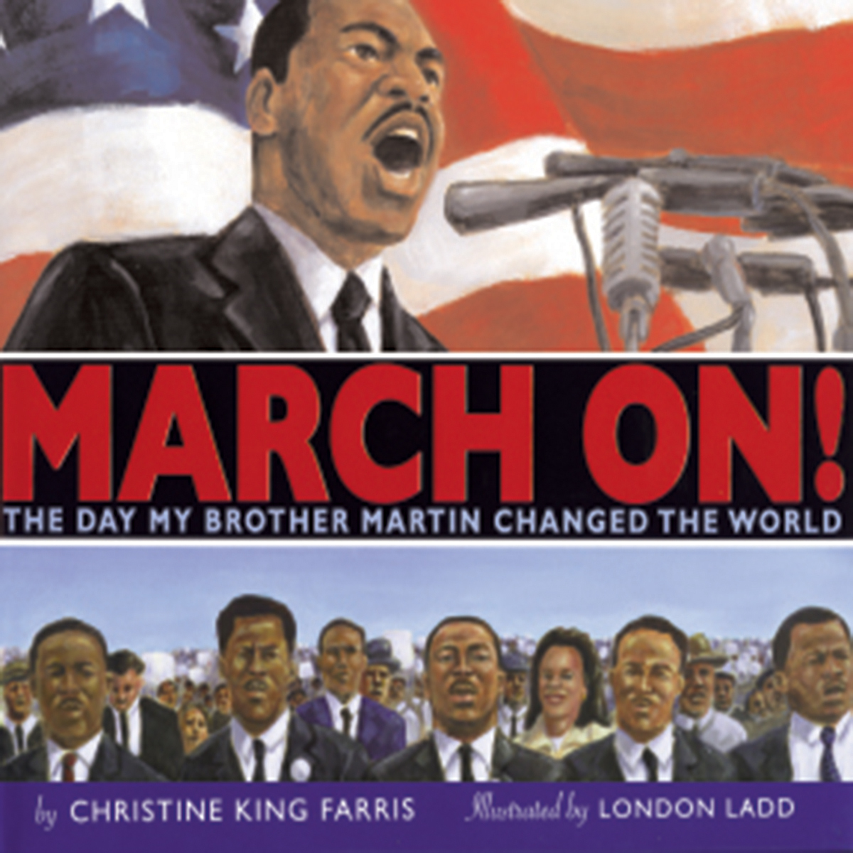 Printable March On! : The Day My Brother Martin Changed the World Audiobook Cover Art