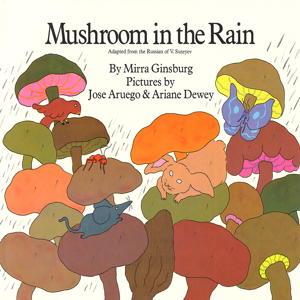 Printable Mushroom in the Rain Audiobook Cover Art