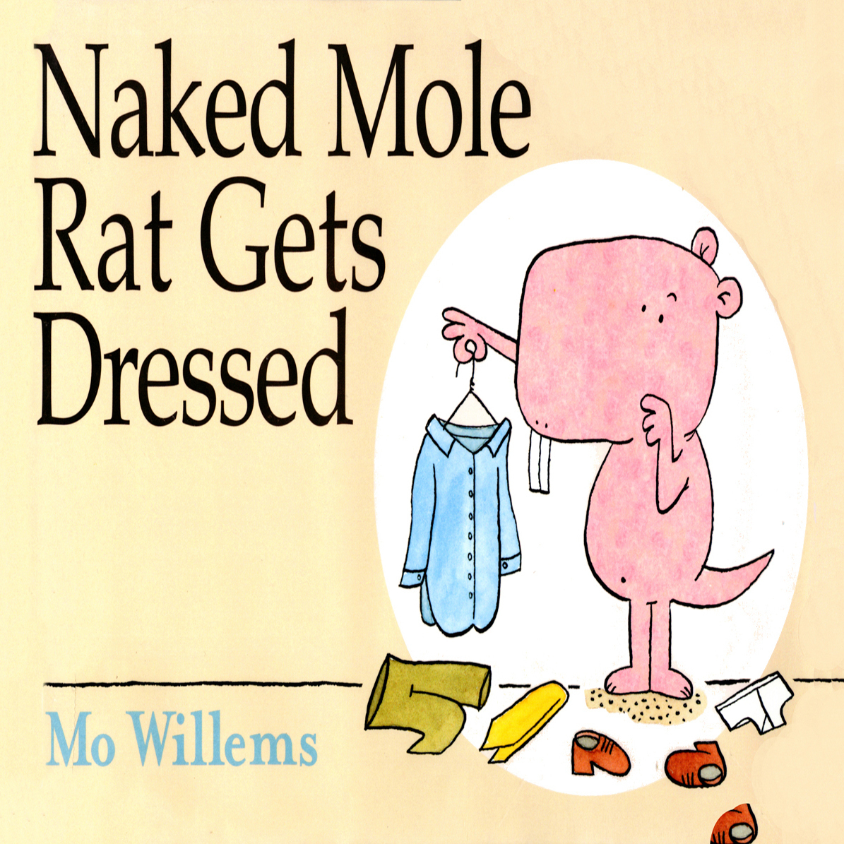 Printable Naked Mole Rat Gets Dressed Audiobook Cover Art