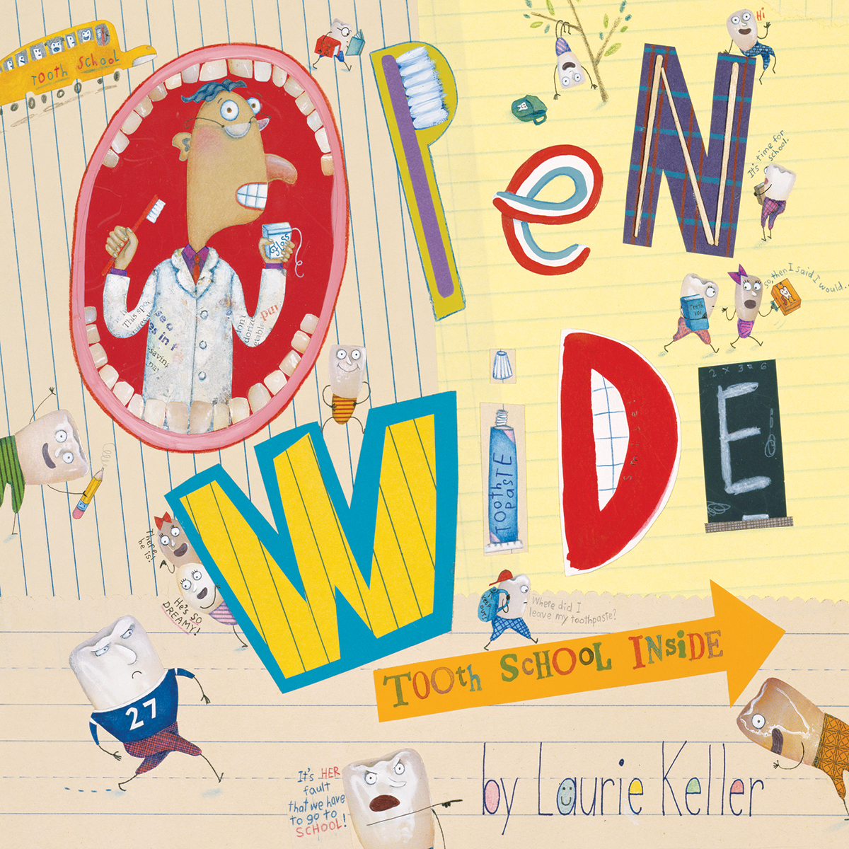 Printable Open Wide: Tooth School Inside Audiobook Cover Art