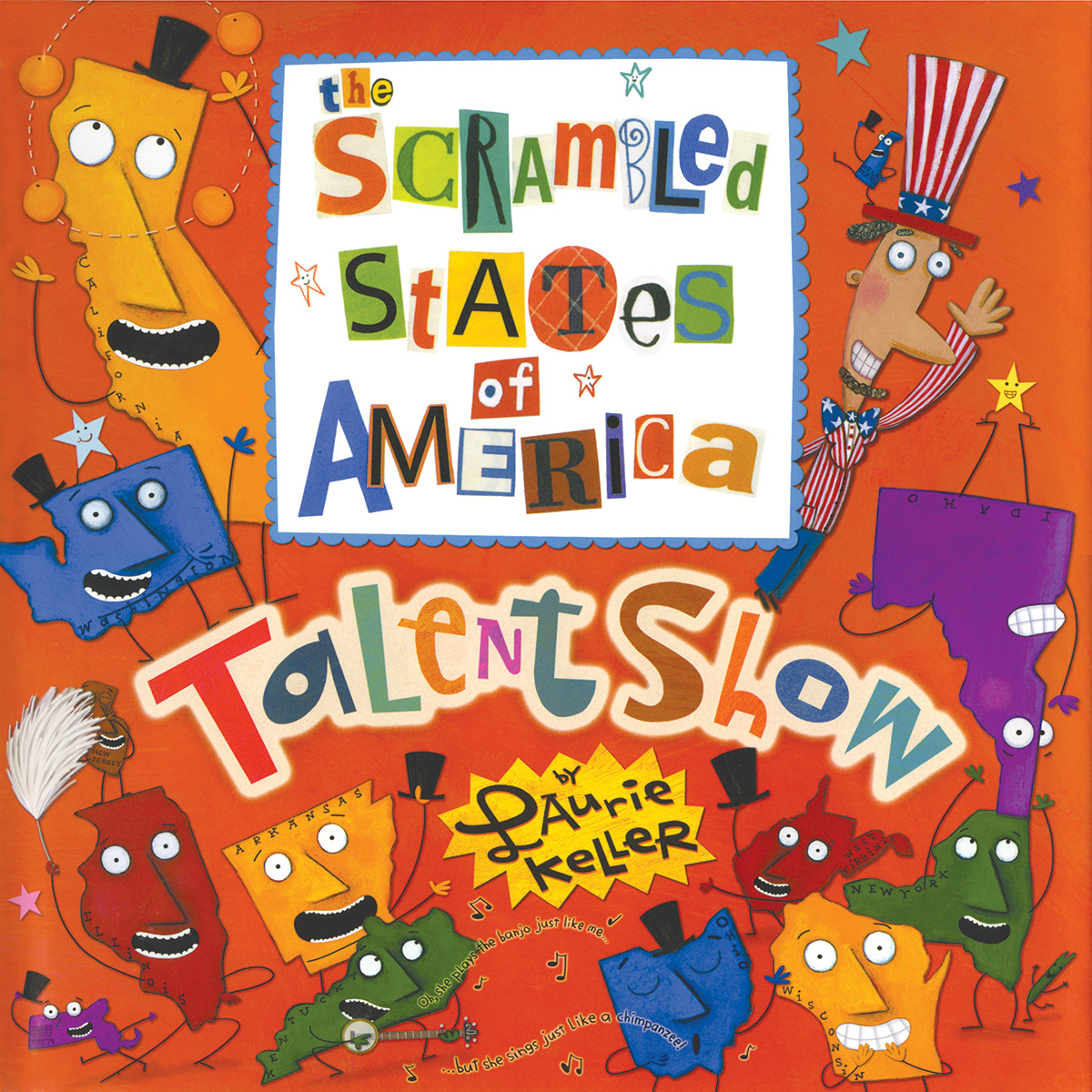 Printable The Scrambled States of America Talent Show Audiobook Cover Art