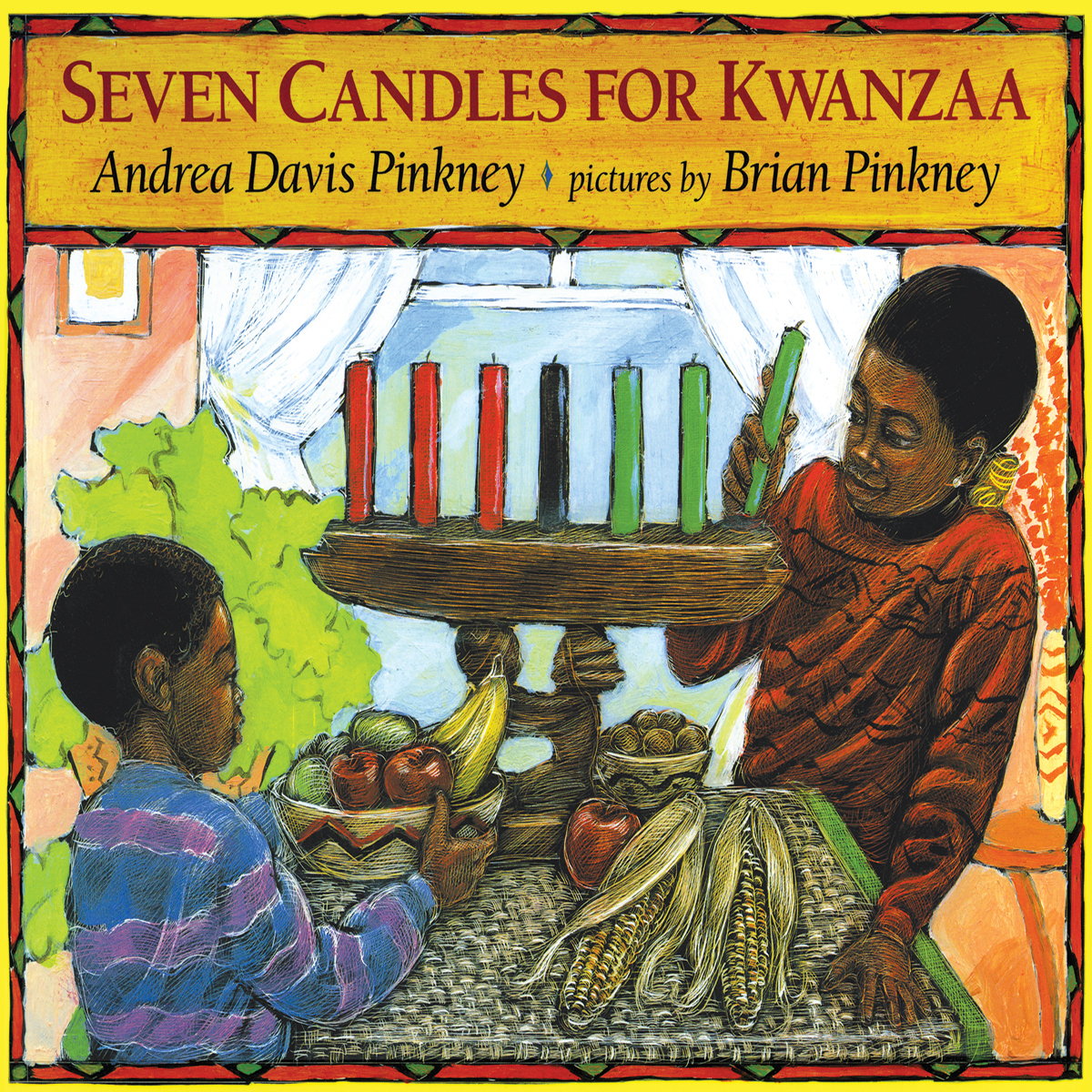 Printable Seven Candles for Kwanzaa Audiobook Cover Art