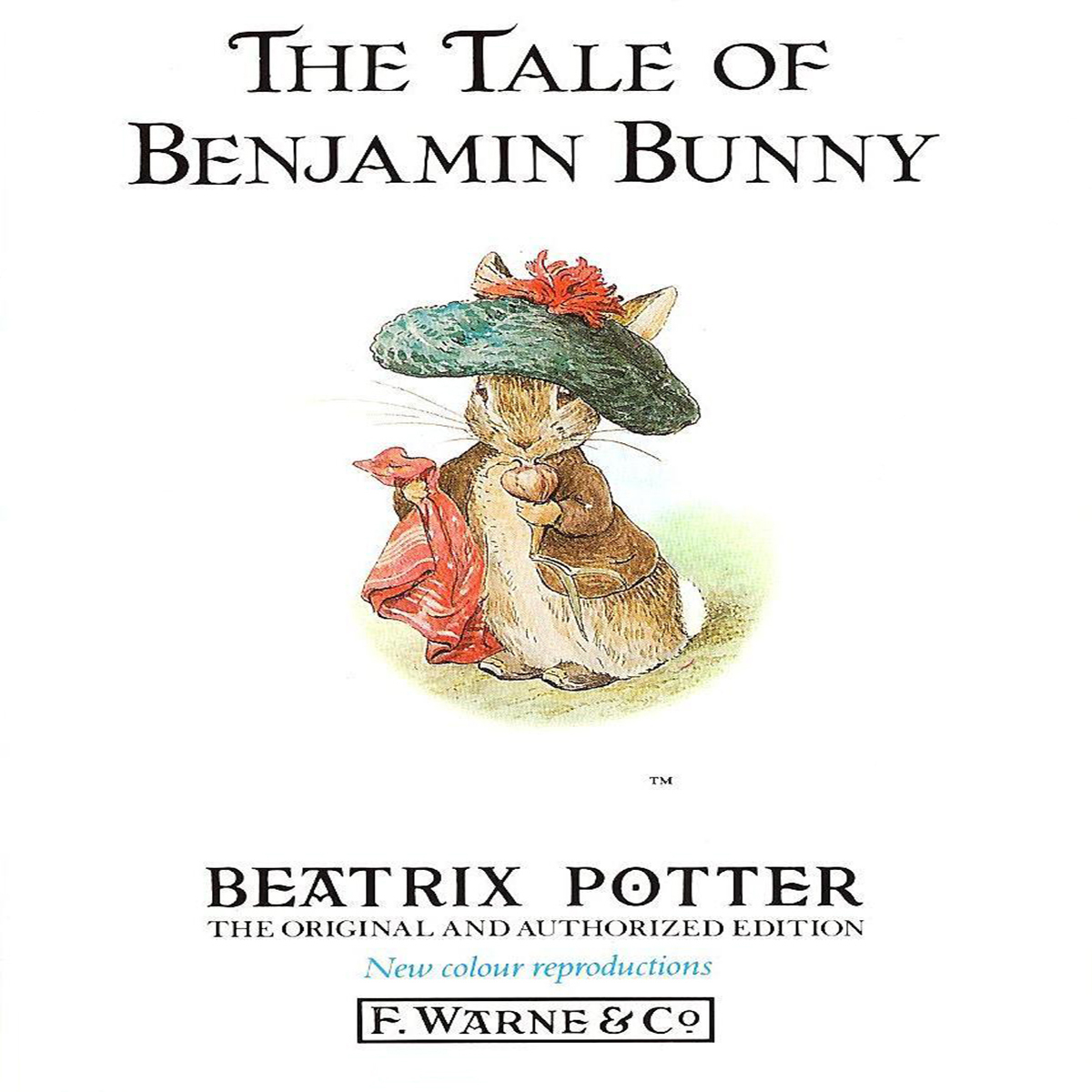 Printable The Tale of Benjamin Bunny Audiobook Cover Art