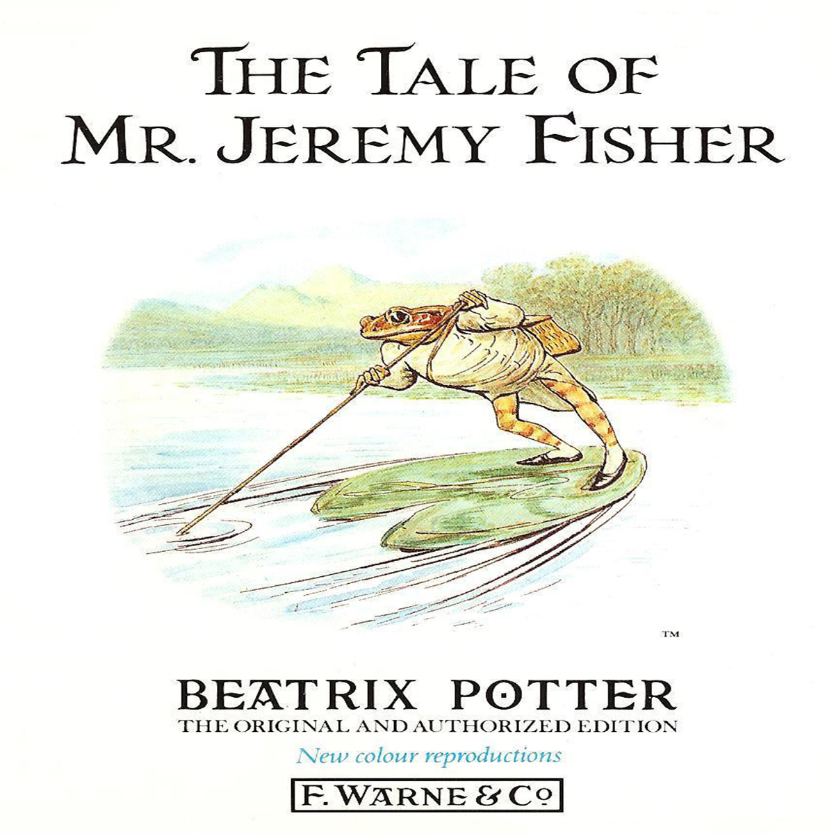 Printable The Tale of Mr. Jeremy Fisher Audiobook Cover Art