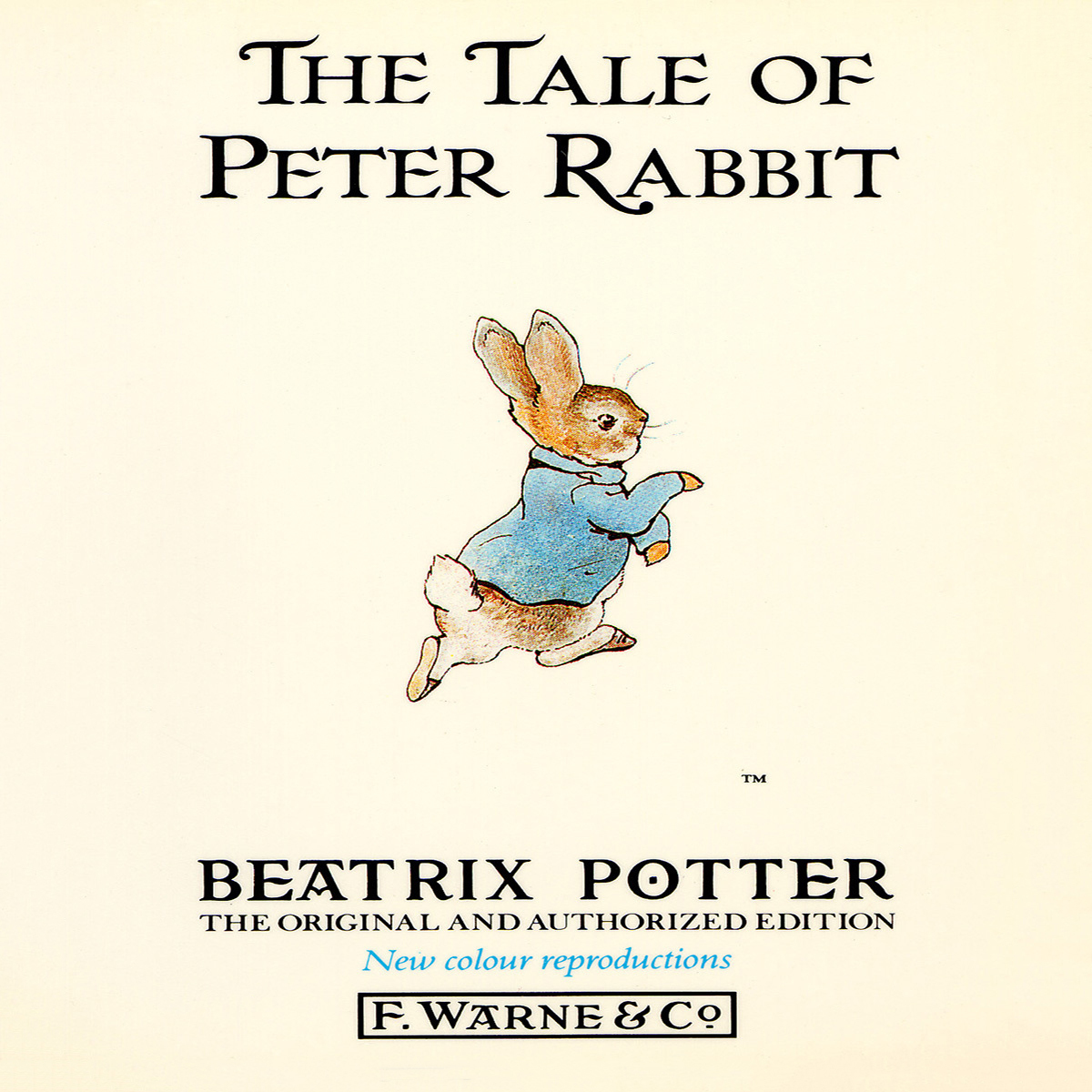 Printable The Tale of Peter Rabbit Audiobook Cover Art