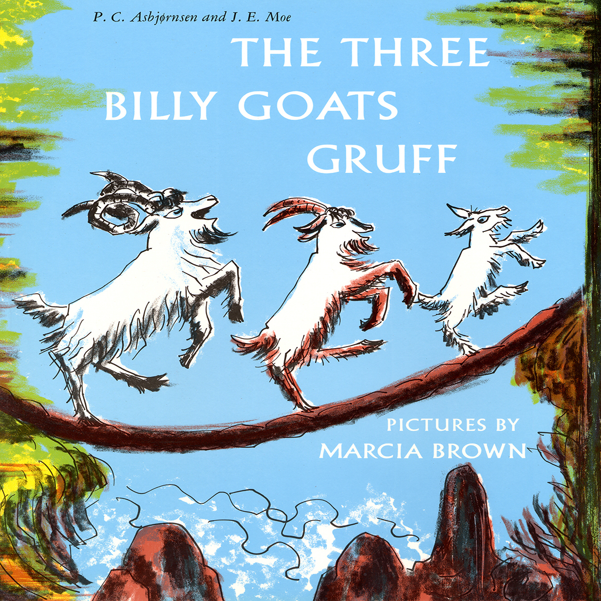 Printable The Three Billy Goats Gruff  Audiobook Cover Art