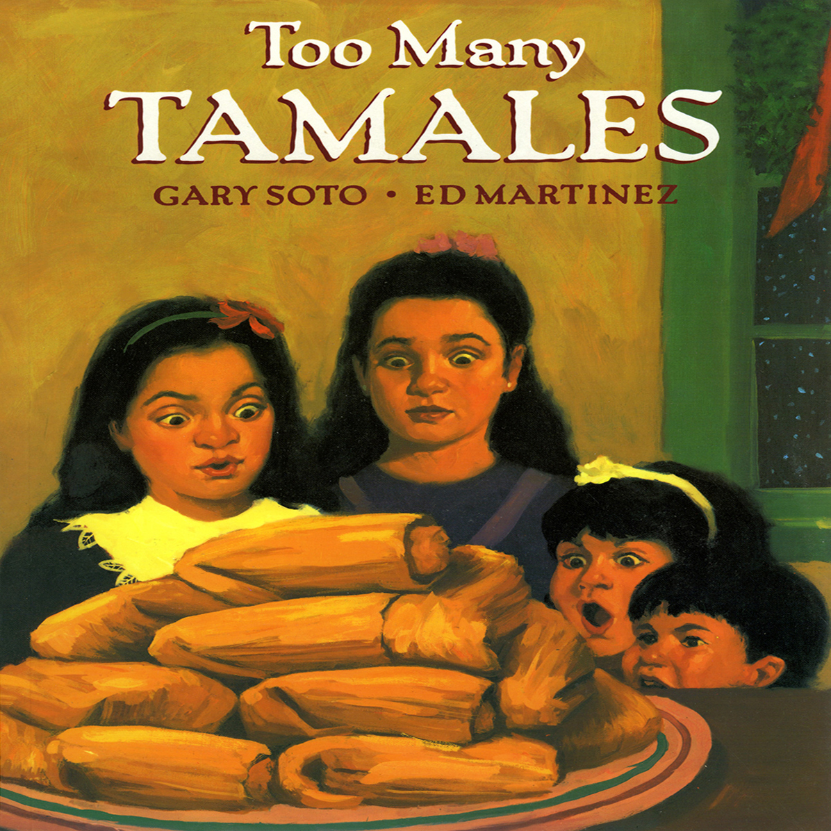 Printable Too Many Tamales Audiobook Cover Art