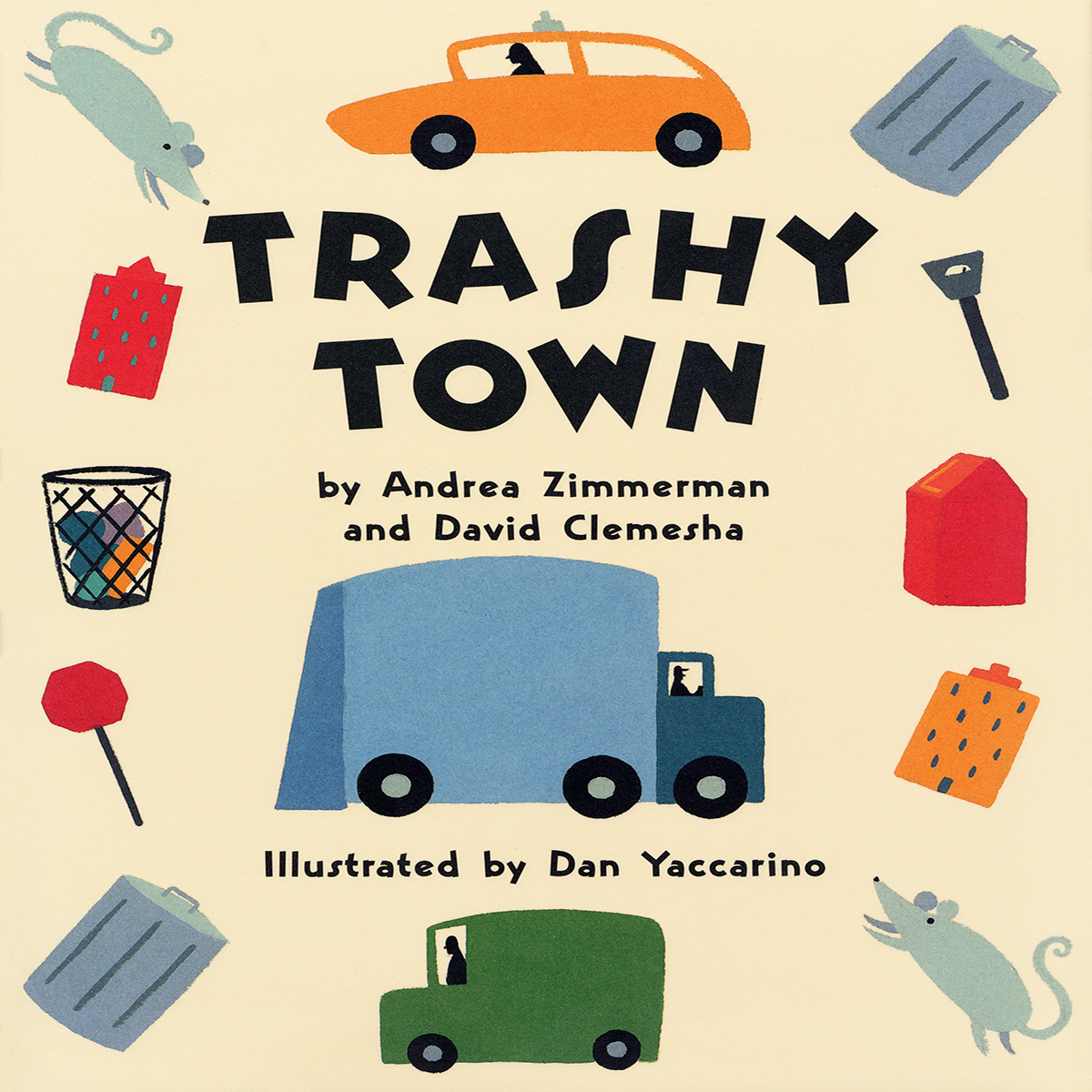 Printable Trashy Town Audiobook Cover Art