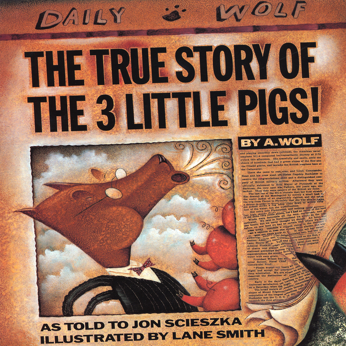 Printable The True Story of the Three Little Pigs Audiobook Cover Art