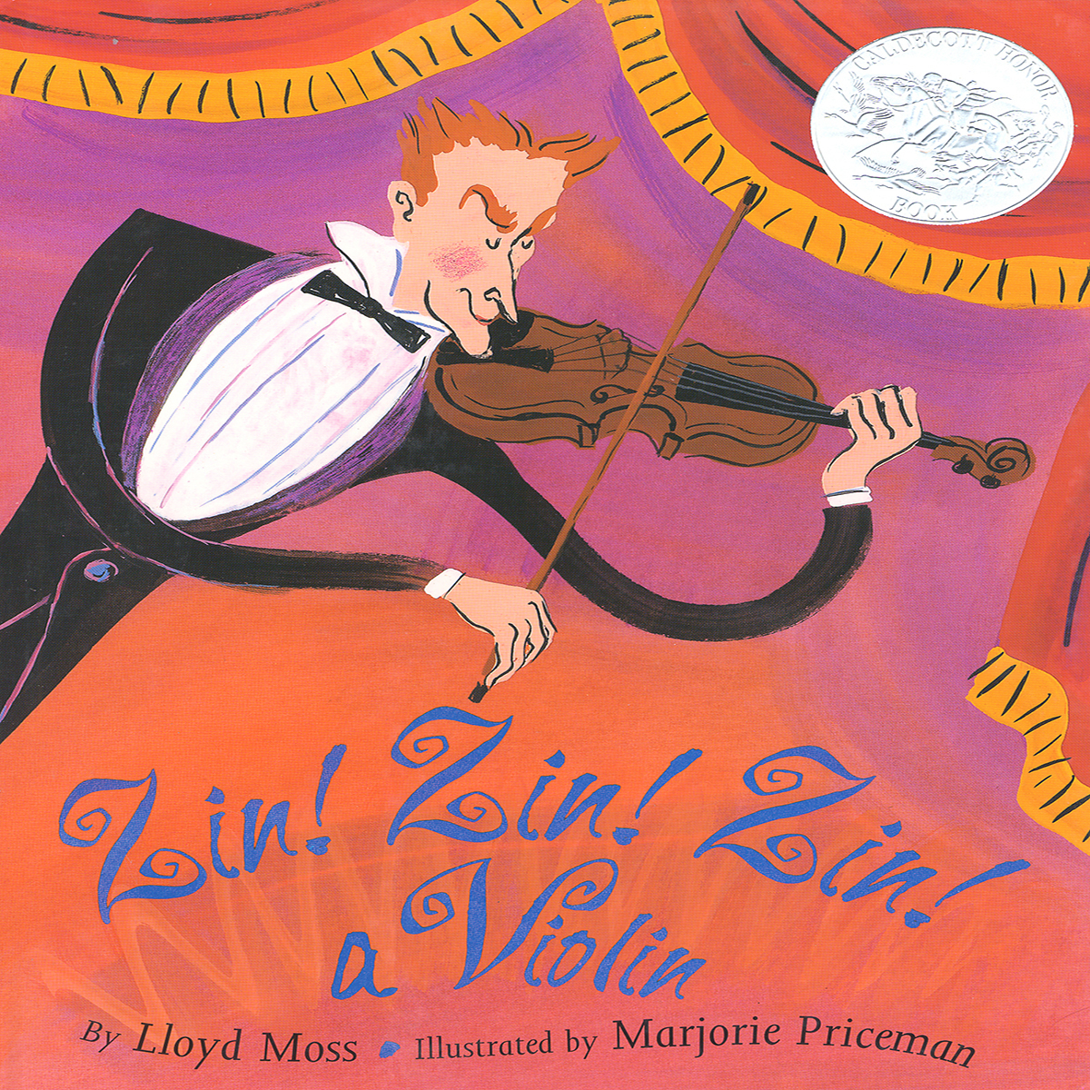 Printable Zin! Zin! Zin! a Violin Audiobook Cover Art