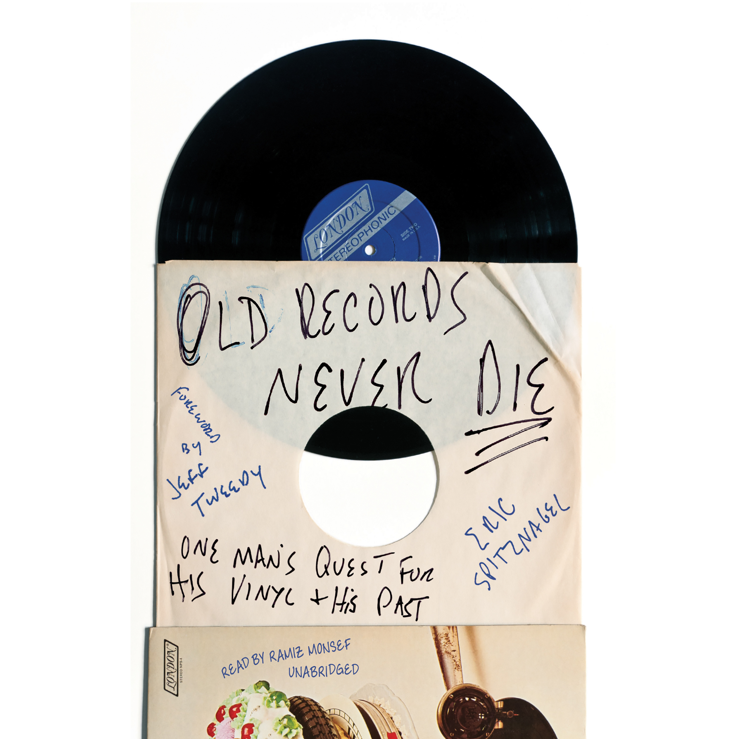 Printable Old Records Never Die: One Man's Quest for His Vinyl and His Past Audiobook Cover Art