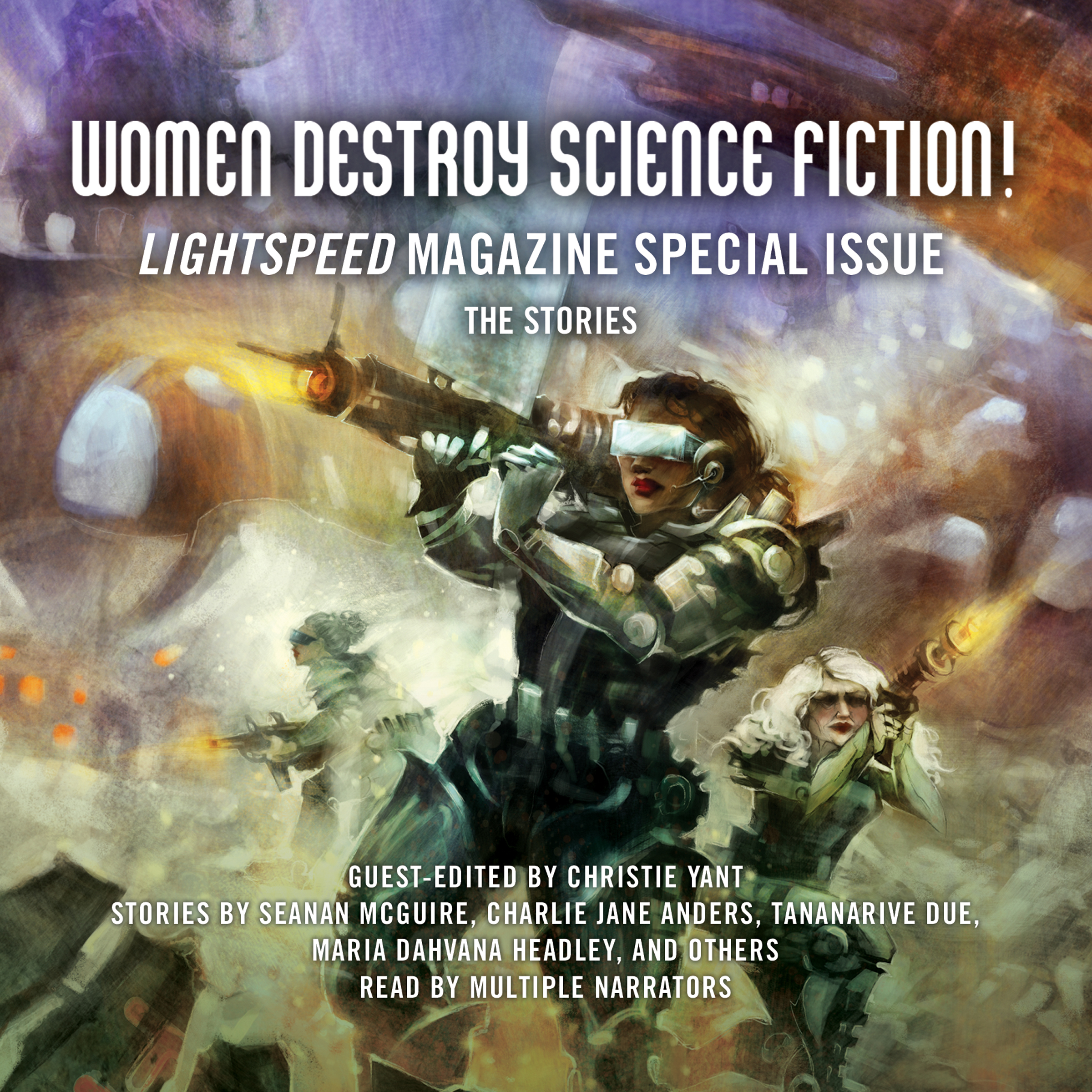 Printable Women Destroy Science Fiction!: Lightspeed Magazine Special Issue; The Stories Audiobook Cover Art