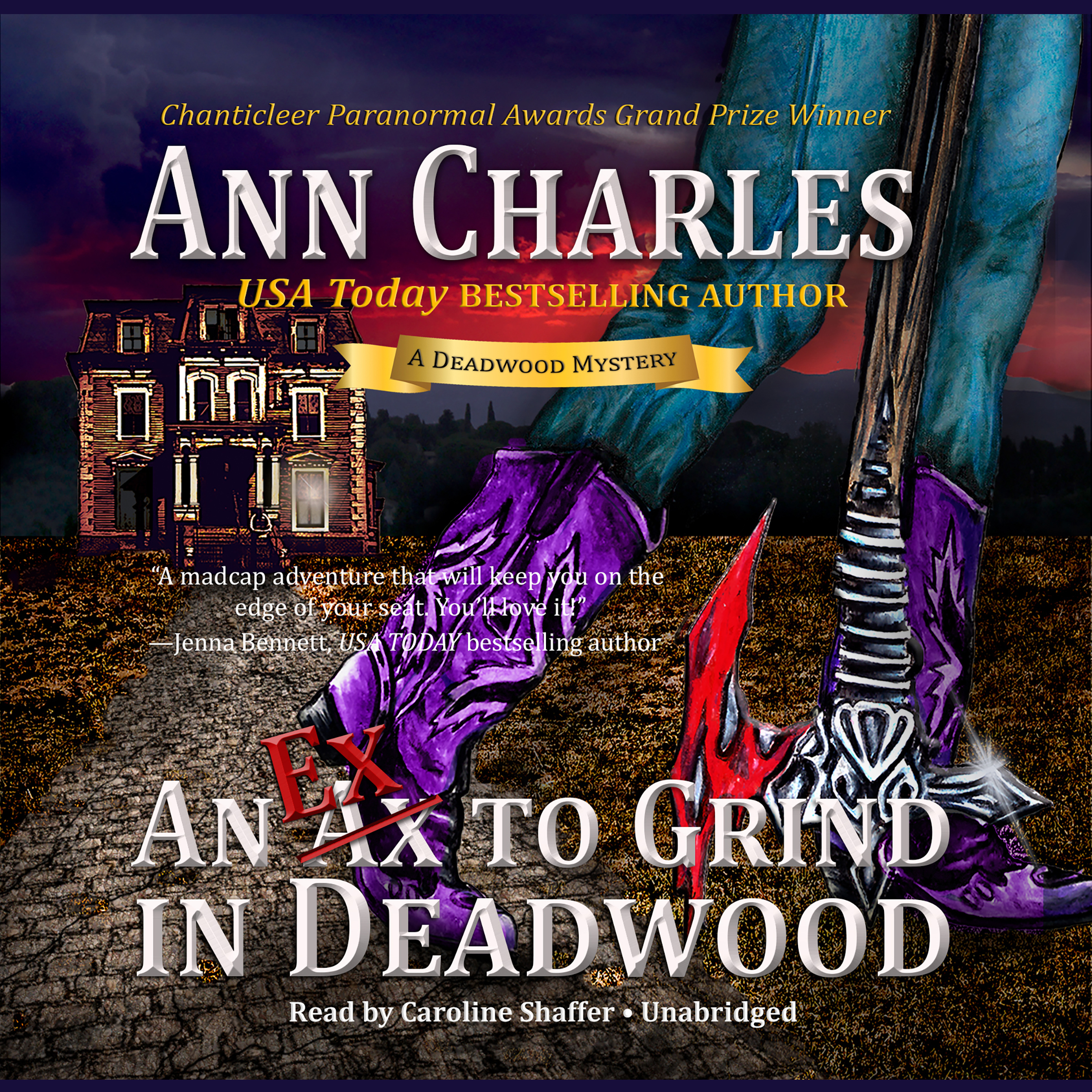 Printable An Ex to Grind in Deadwood Audiobook Cover Art
