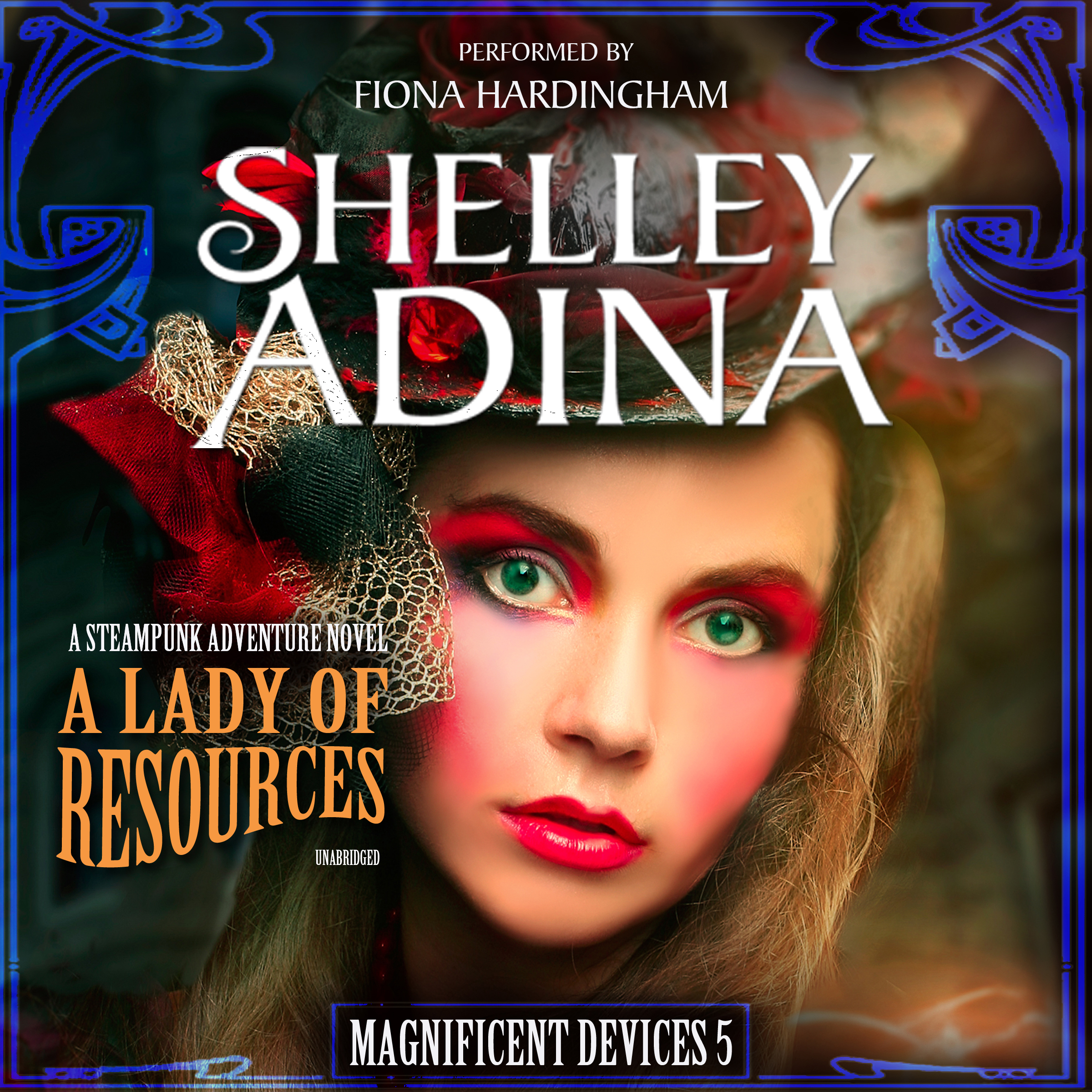 Printable A Lady of Resources: A Steampunk Adventure Novel Audiobook Cover Art