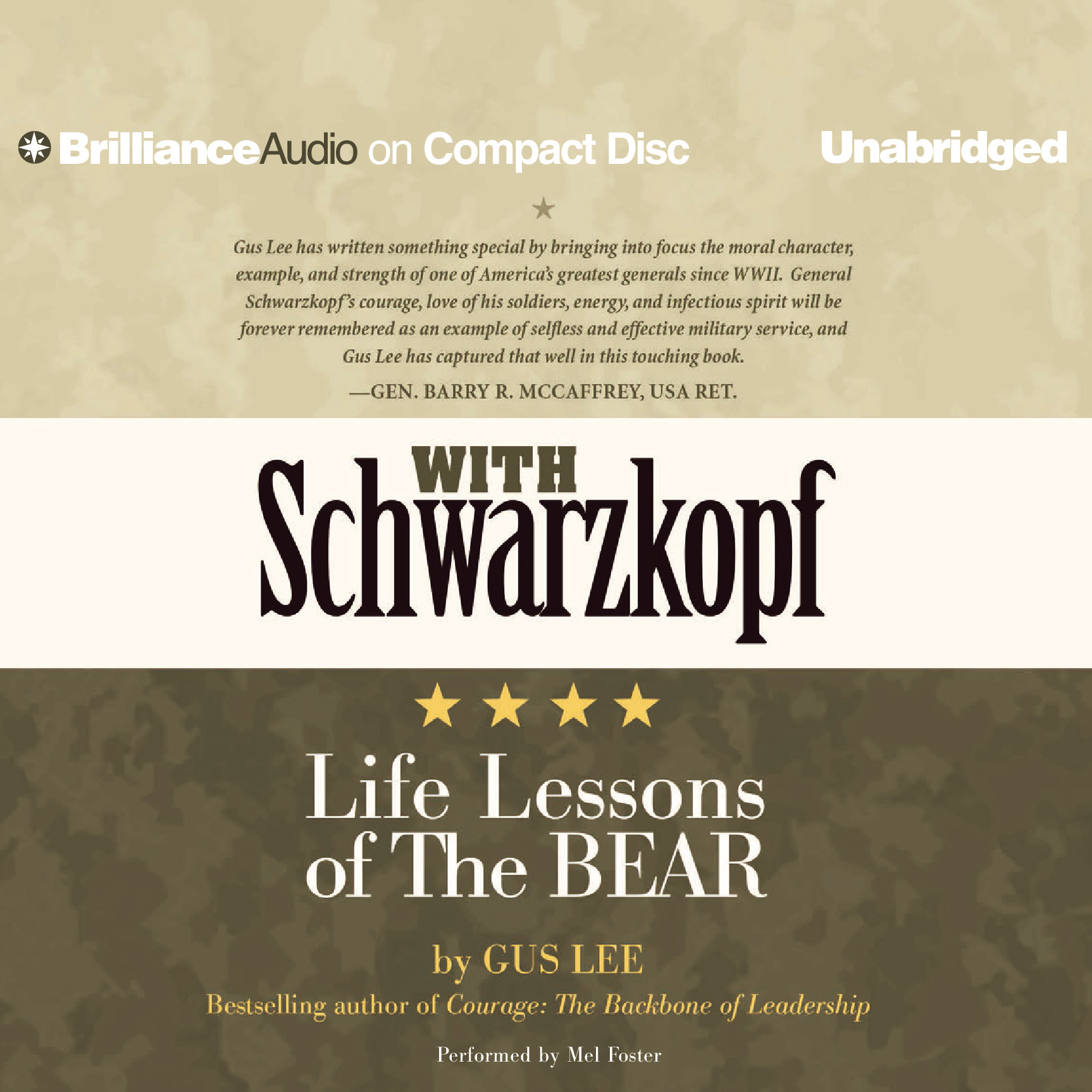 Printable With Schwarzkopf: Life Lessons of The Bear Audiobook Cover Art