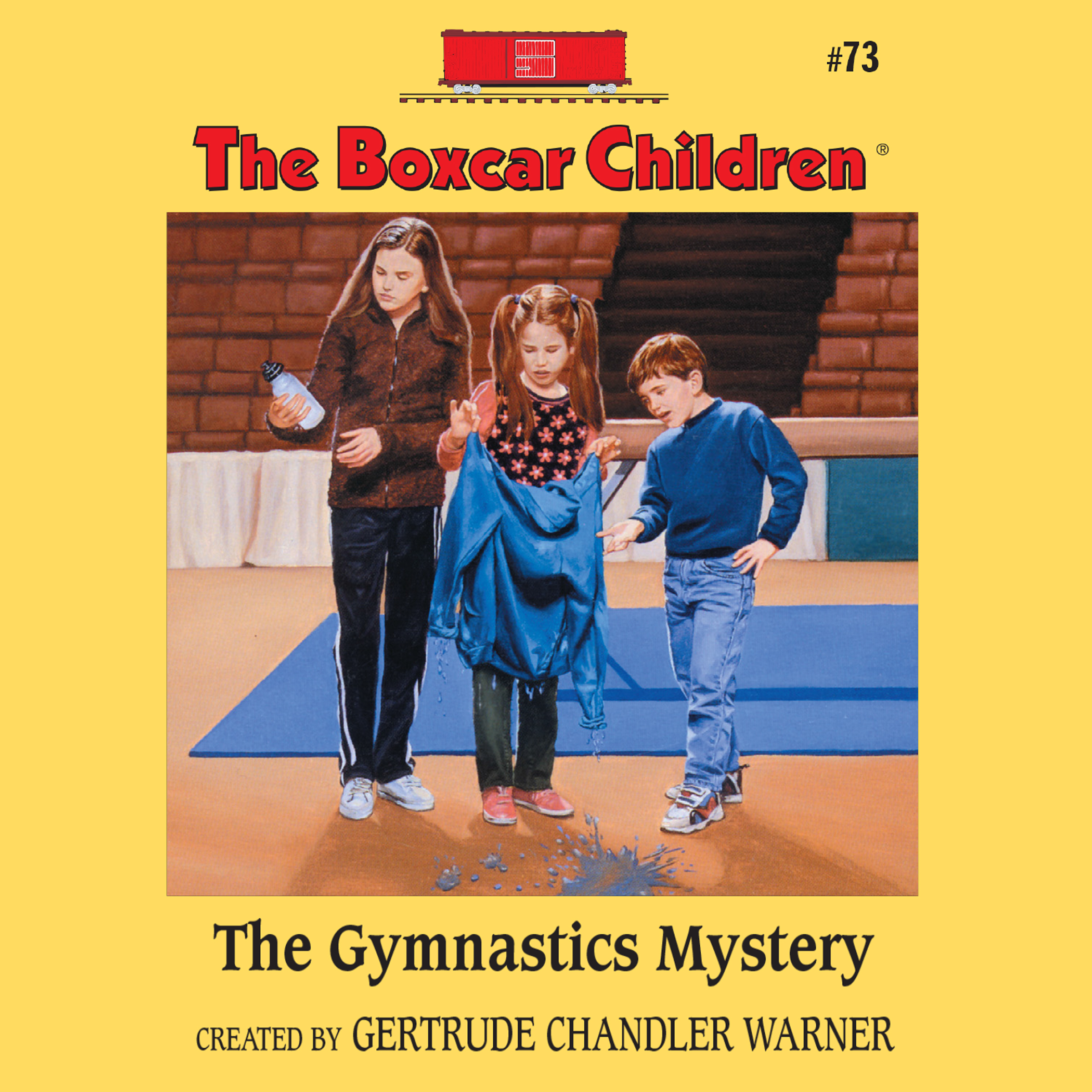 Printable The Gymnastics Mystery Audiobook Cover Art