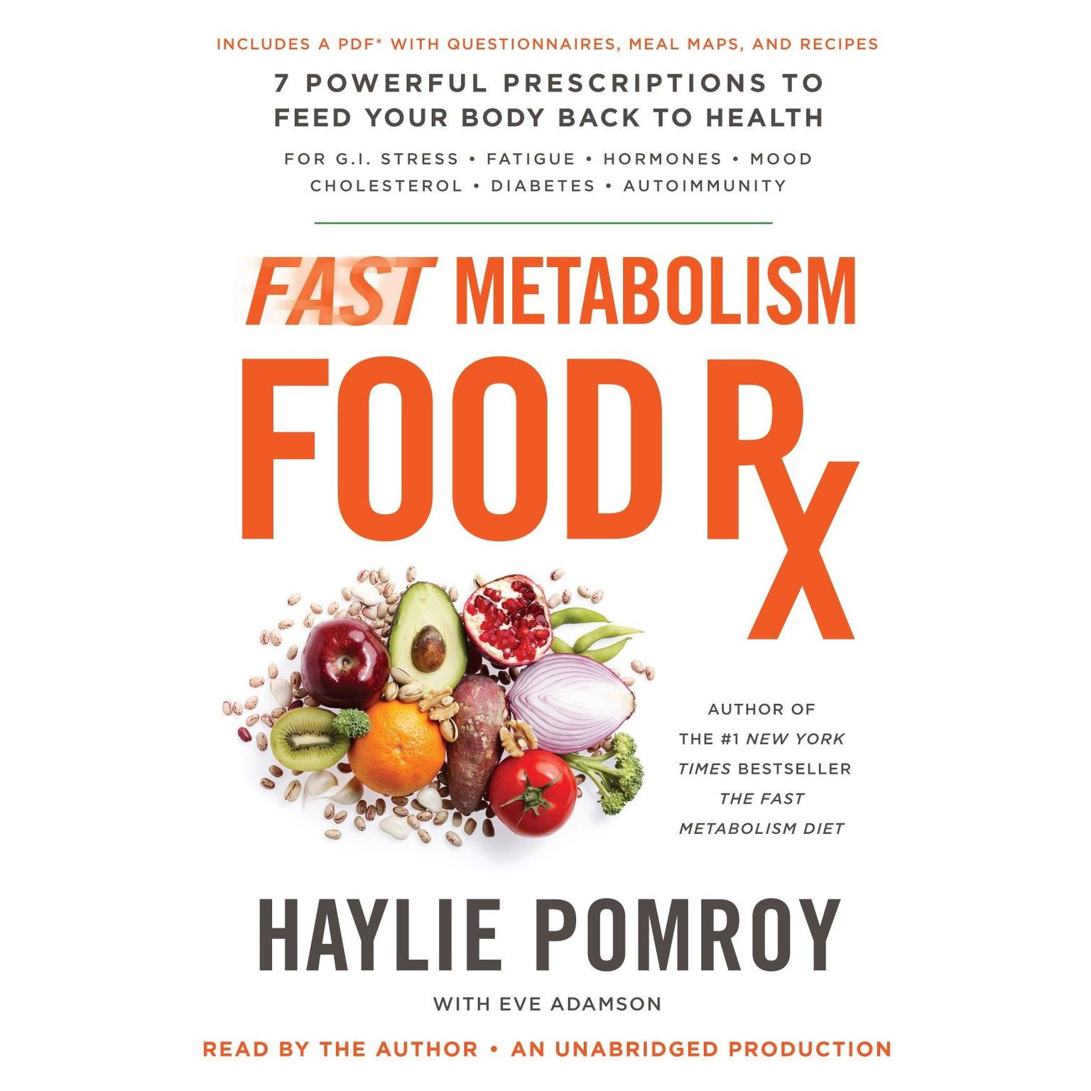 Printable Fast Metabolism Food Rx: 7 Powerful Prescriptions to Feed Your Body Back to Health Audiobook Cover Art