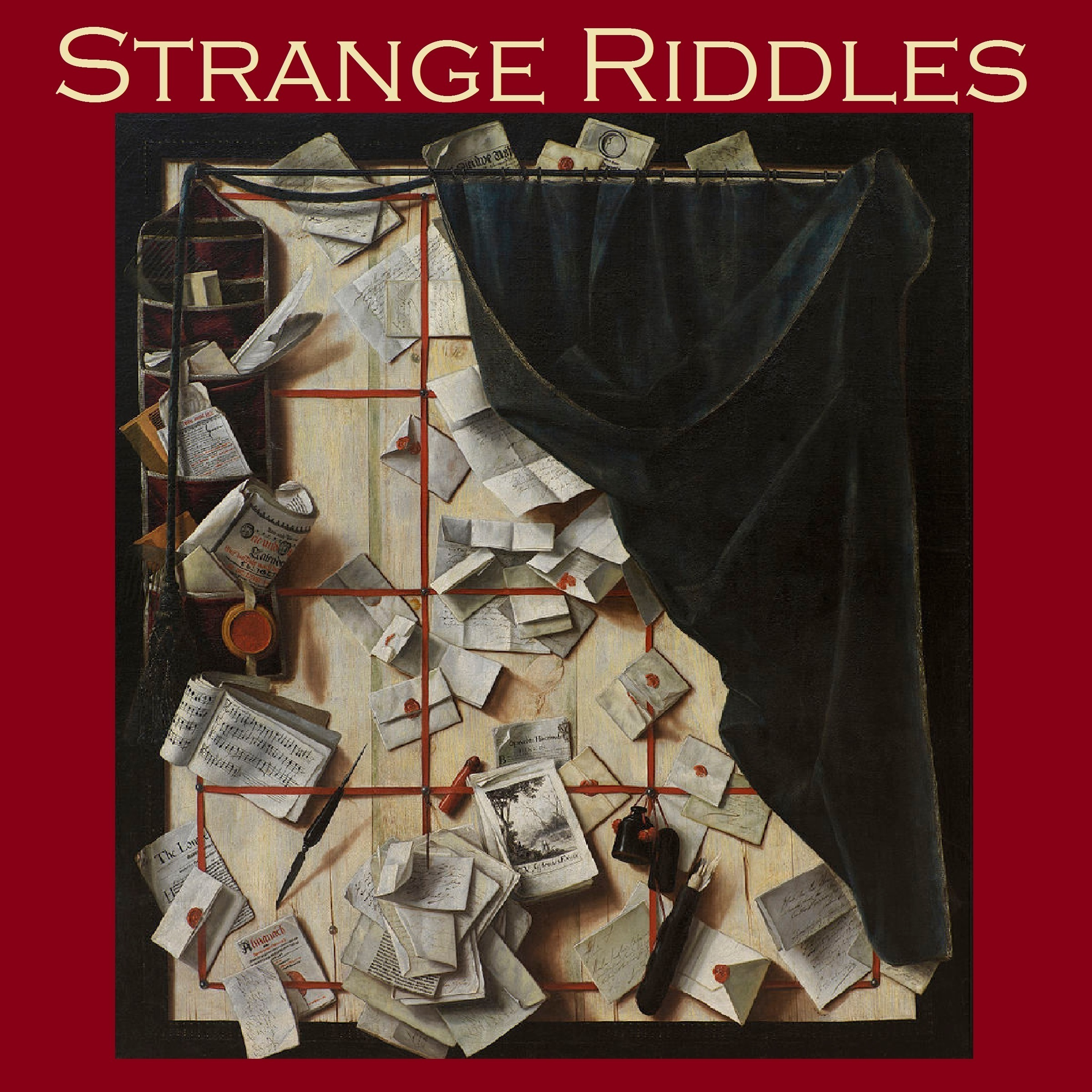 Printable Strange Riddles: Stories of Puzzles and Intrigues Audiobook Cover Art