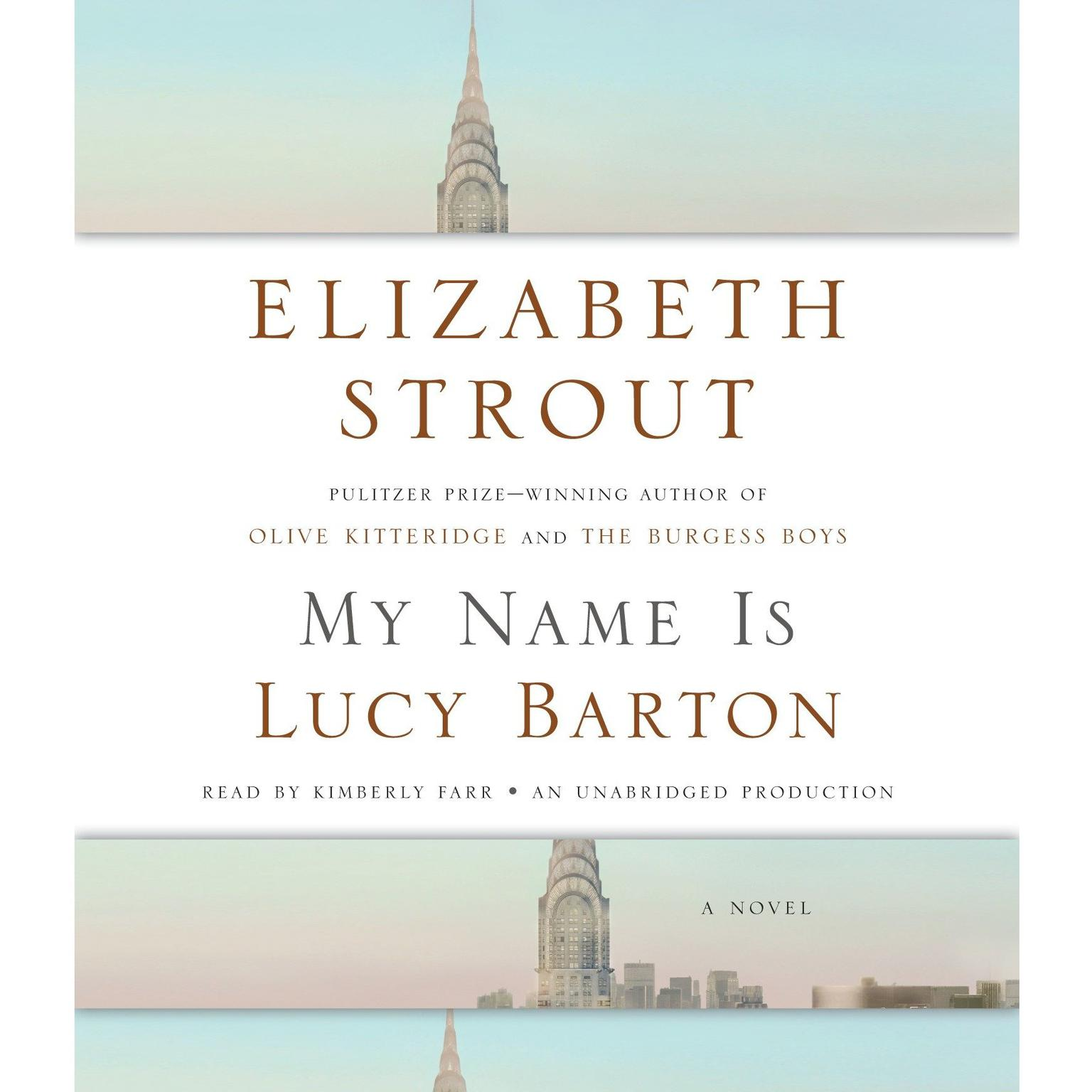 Printable My Name Is Lucy Barton: A Novel Audiobook Cover Art