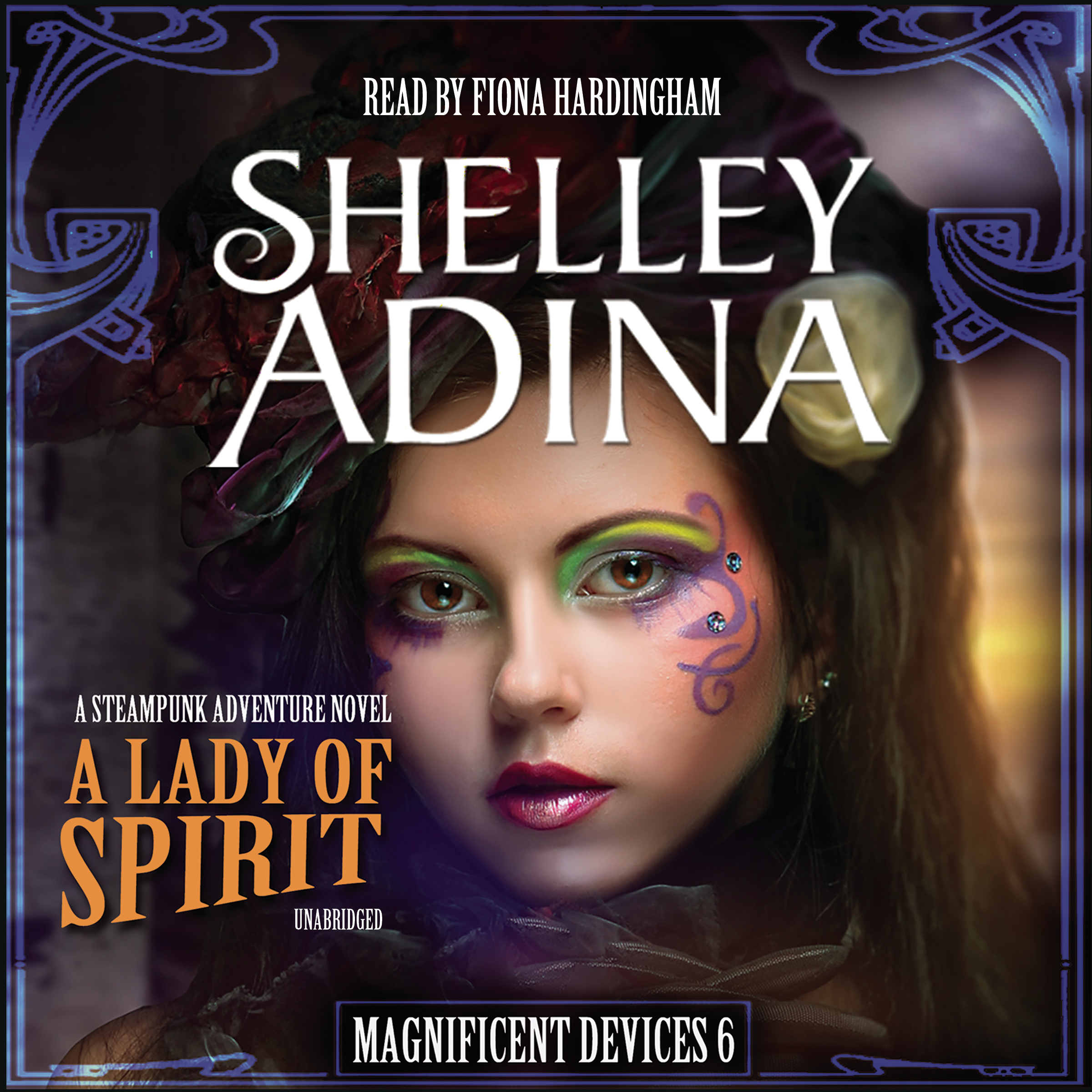 Printable A Lady of Spirit: A Steampunk Adventure Novel Audiobook Cover Art