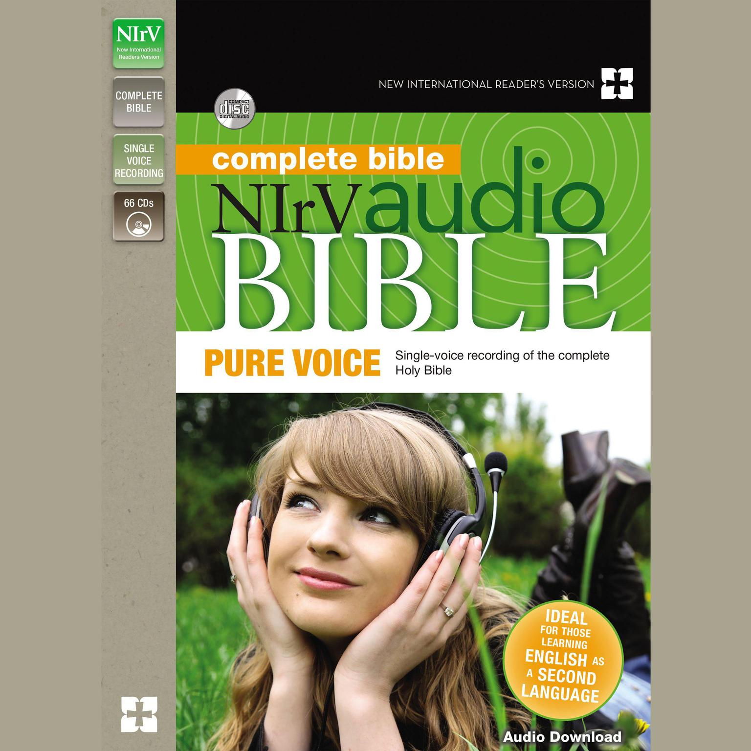 Printable NIrV Audio Bible, Pure Voice Audiobook Cover Art