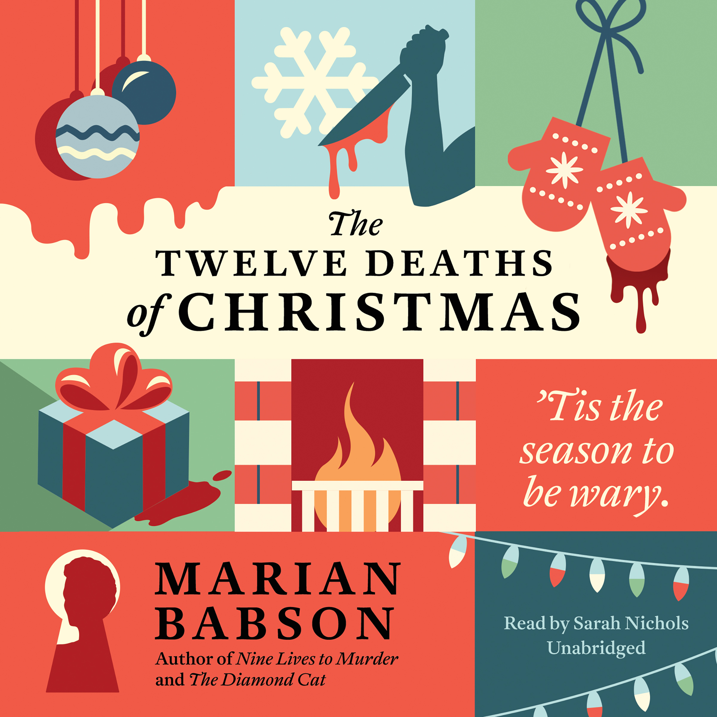 Printable The Twelve Deaths of Christmas Audiobook Cover Art