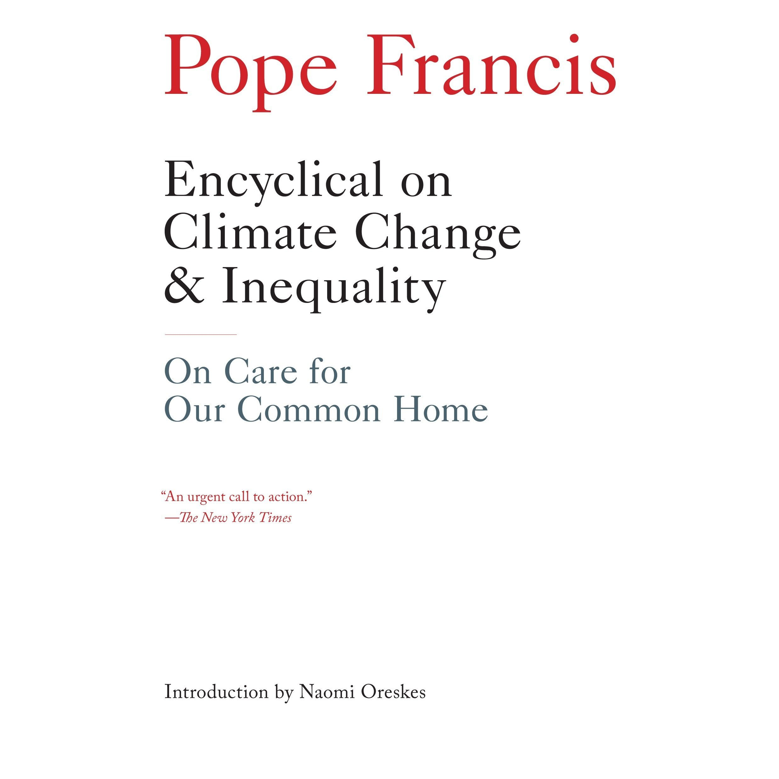 Printable Encyclical on Climate Change and Inequality: On Care for Our Common Home Audiobook Cover Art