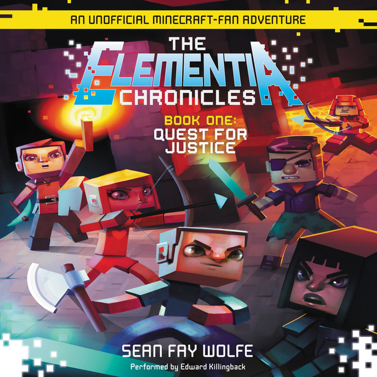 Printable Quest for Justice: An Unofficial Minecraft-Fan Adventure Audiobook Cover Art