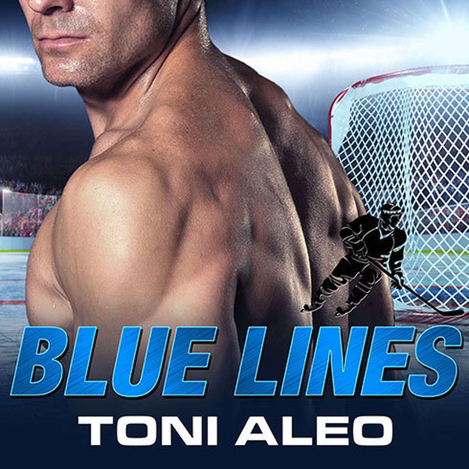 Printable Blue Lines Audiobook Cover Art