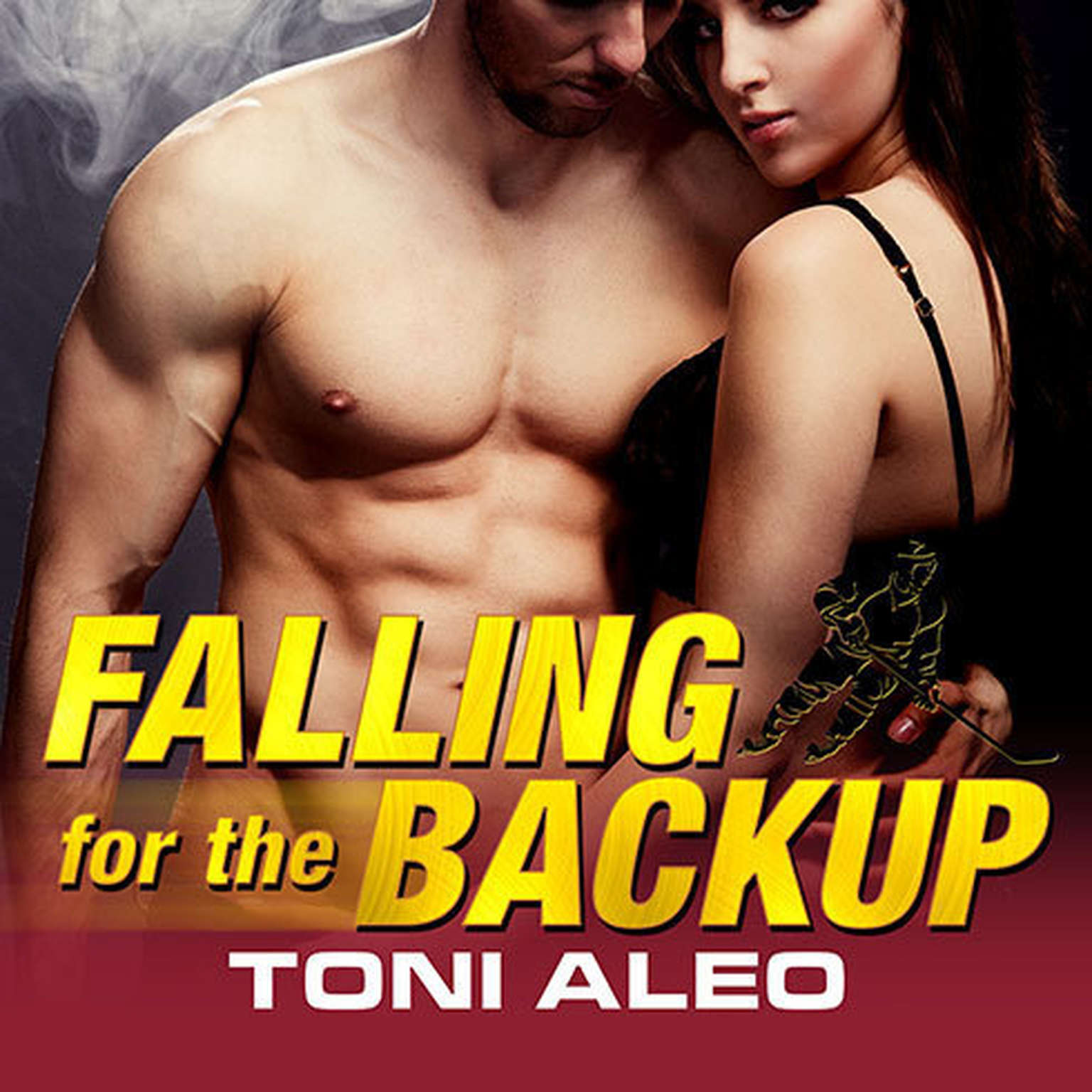 Printable Falling for the Backup Audiobook Cover Art