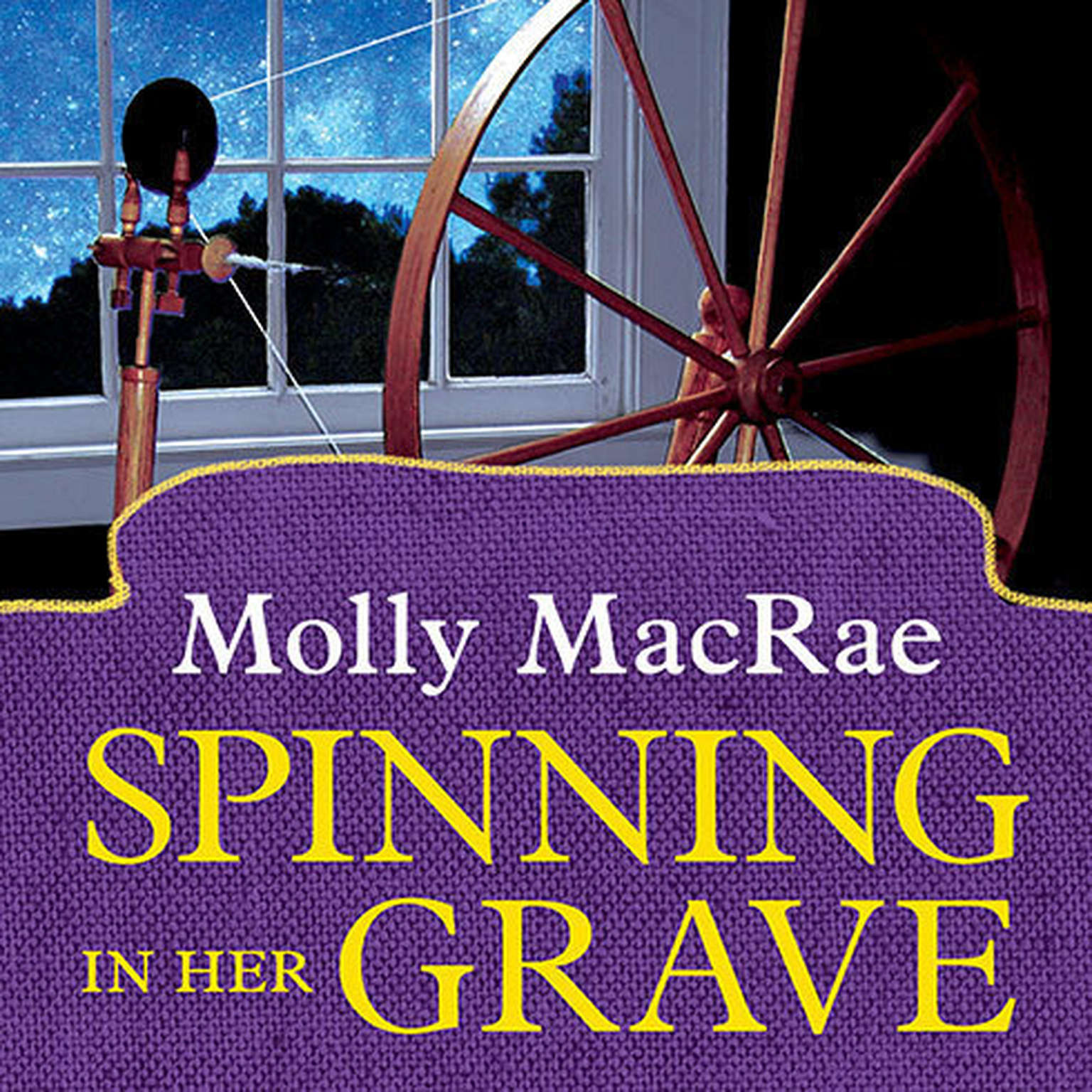 Printable Spinning in Her Grave Audiobook Cover Art