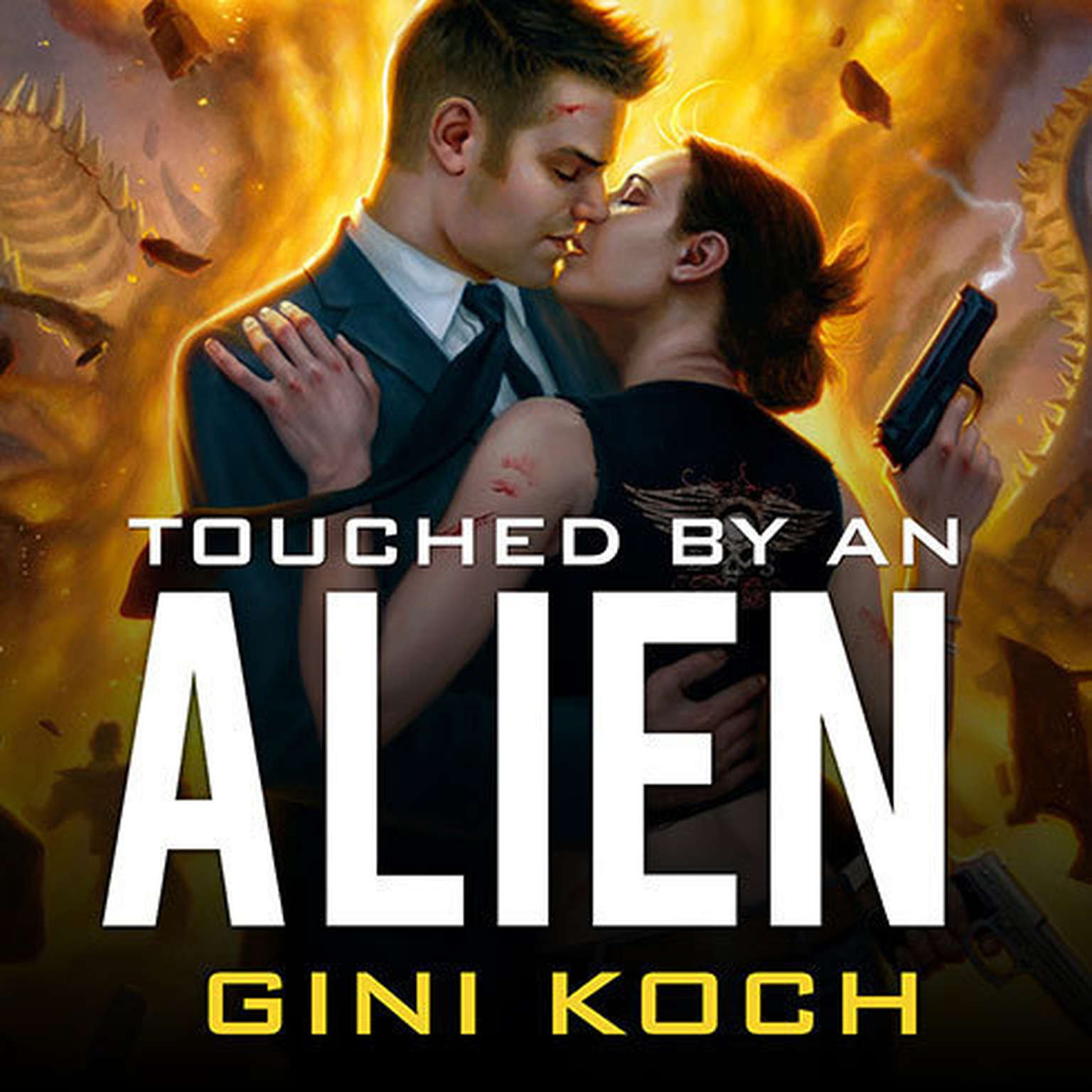 Printable Touched by an Alien Audiobook Cover Art