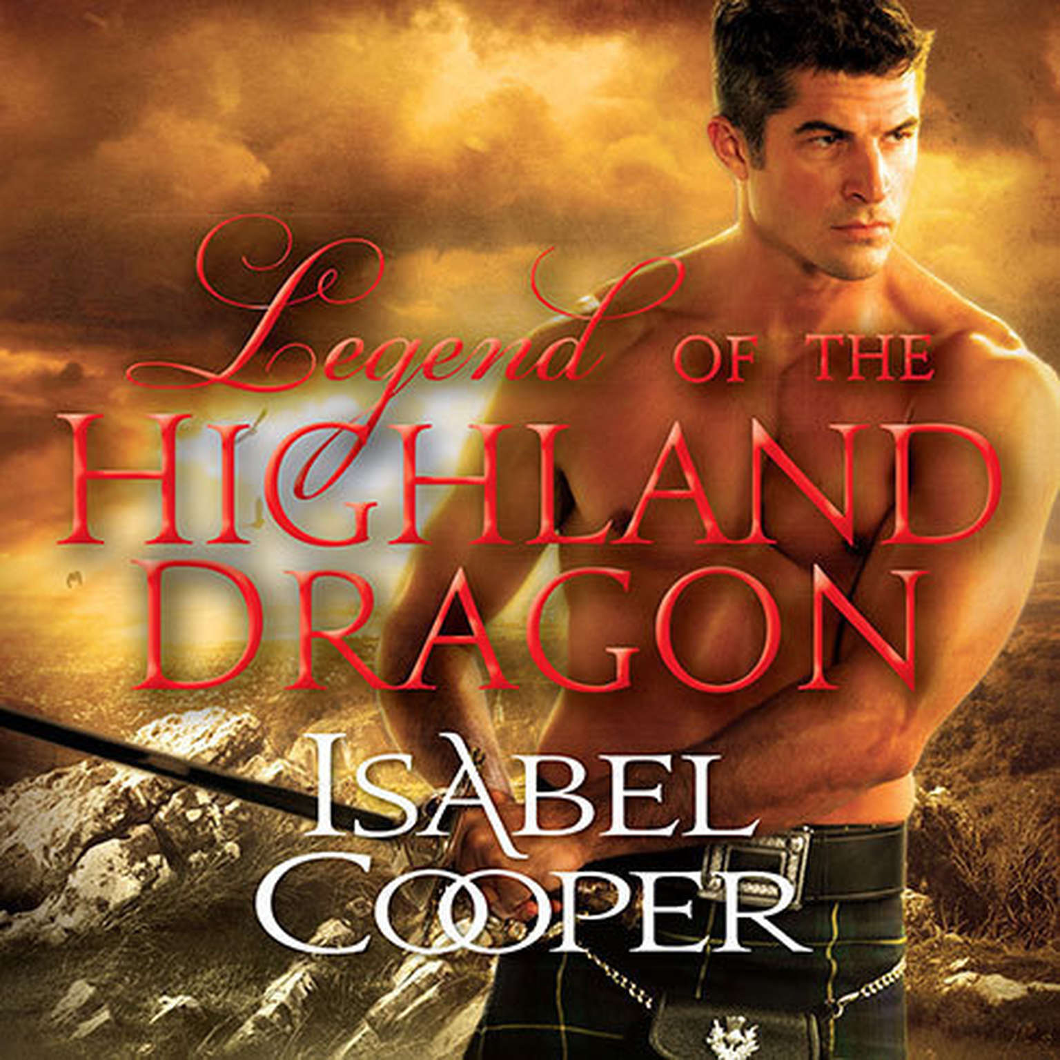 Printable Legend of the Highland Dragon Audiobook Cover Art