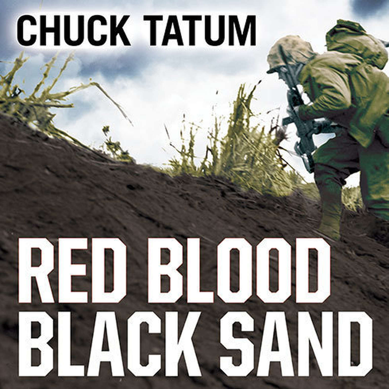 Printable Red Blood, Black Sand: Fighting Alongside John Basilone from Boot Camp to Iwo Jima Audiobook Cover Art
