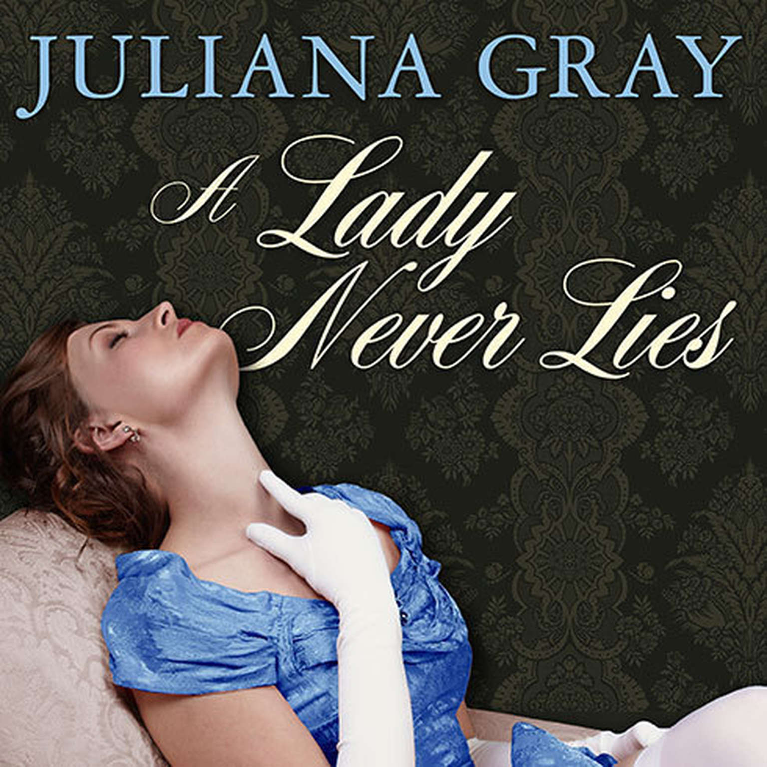 Printable A Lady Never Lies Audiobook Cover Art