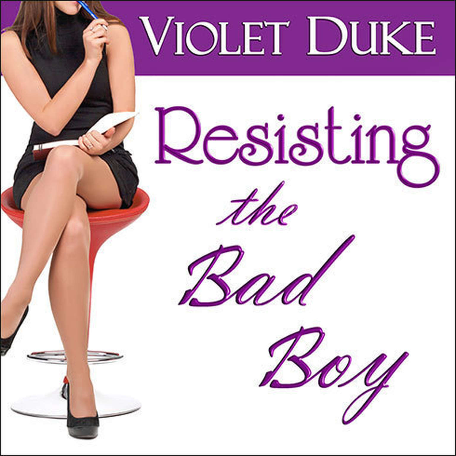 Printable Resisting the Bad Boy Audiobook Cover Art
