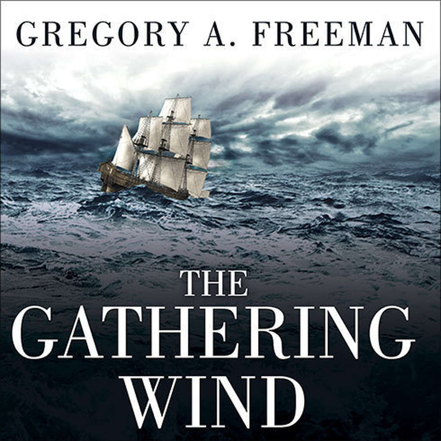 Printable The Gathering Wind: Hurricane Sandy, the Sailing Ship Bounty, and a Courageous Rescue at Sea Audiobook Cover Art