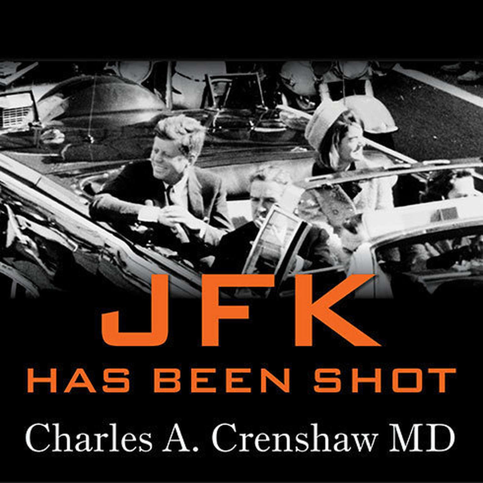 Printable JFK Has Been Shot Audiobook Cover Art