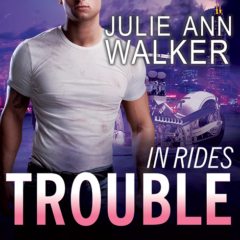 Printable In Rides Trouble Audiobook Cover Art